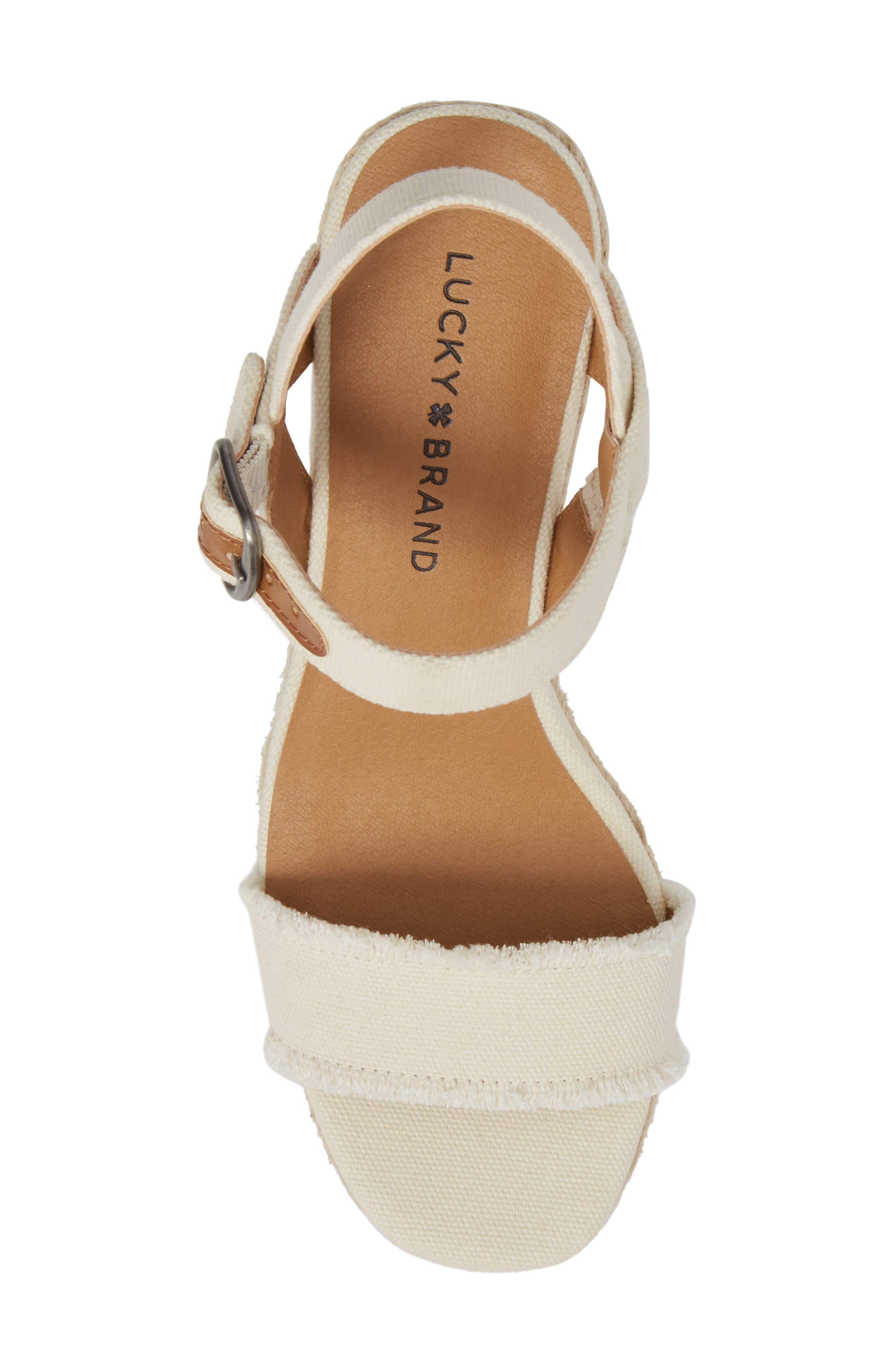 Alternate Image 5  - Lucky Brand Marceline Squared Toe Wedge Sandal (Women)