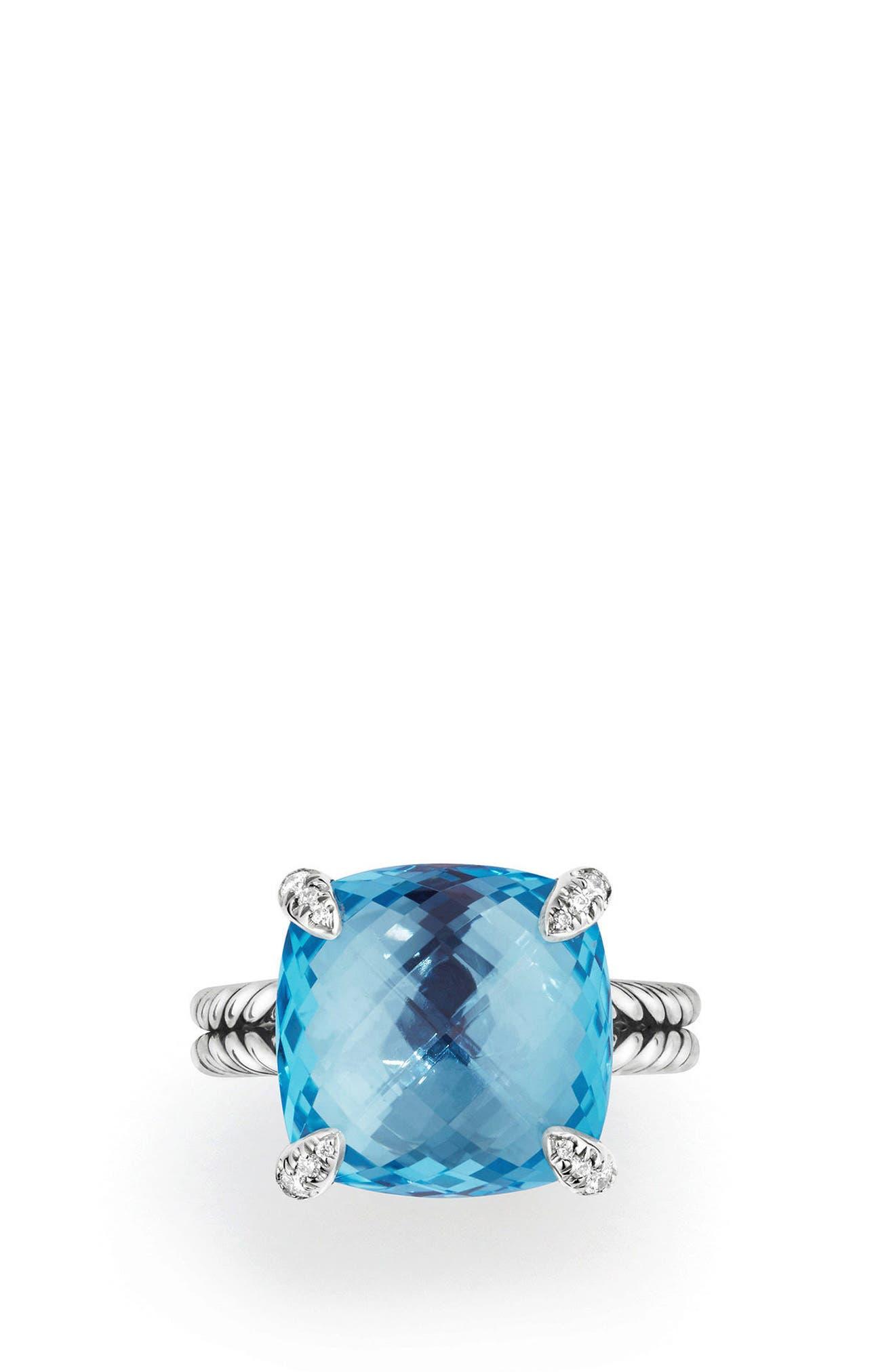 Alternate Image 3  - David Yurman Châtelaine Ring with Semiprecious Stone & Diamonds