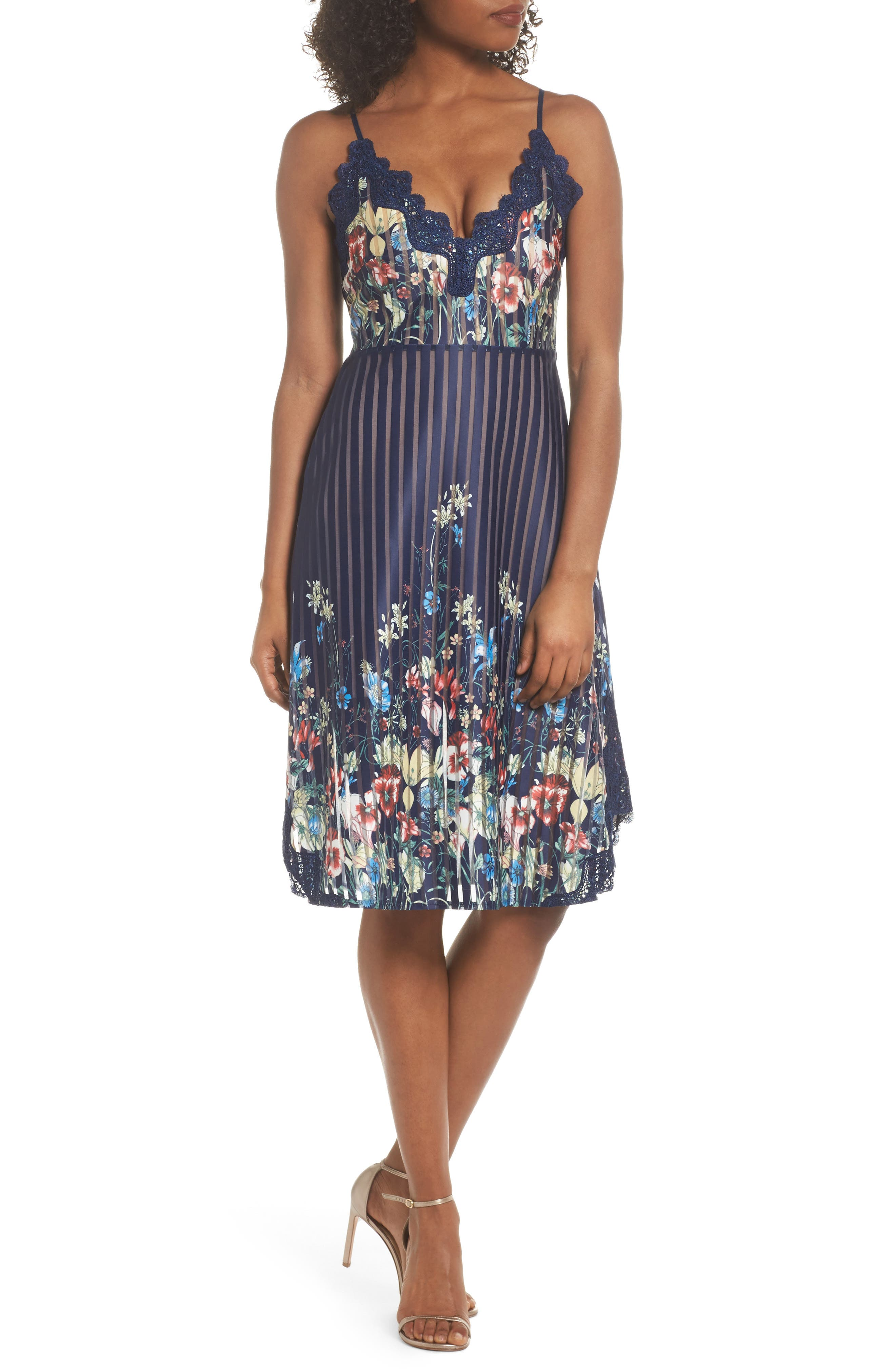 Meadow Dress,                             Main thumbnail 1, color,                             Navy Meadow Multi