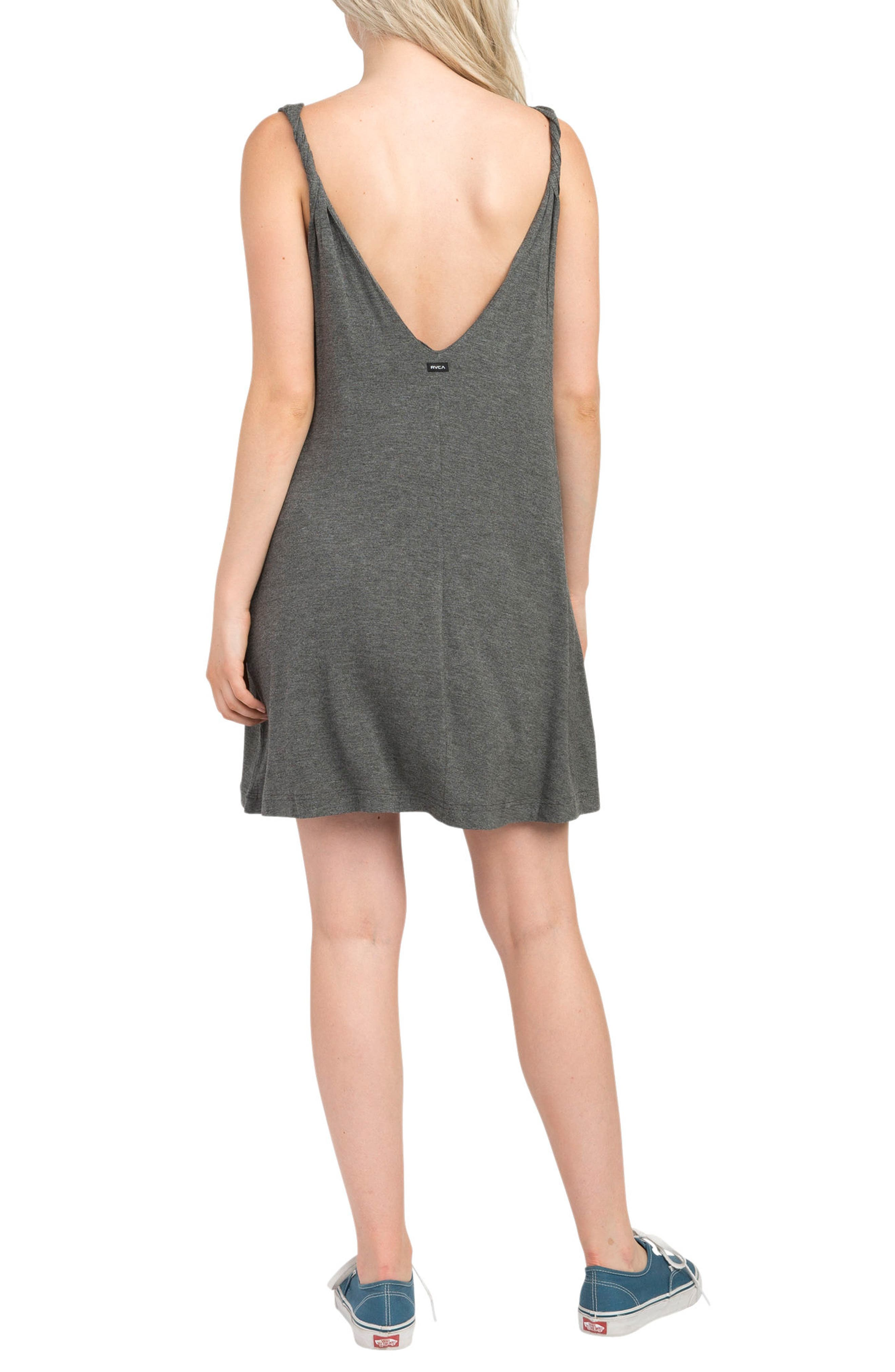 Chances Swing Dress,                             Alternate thumbnail 2, color,                             Charcoal Heather
