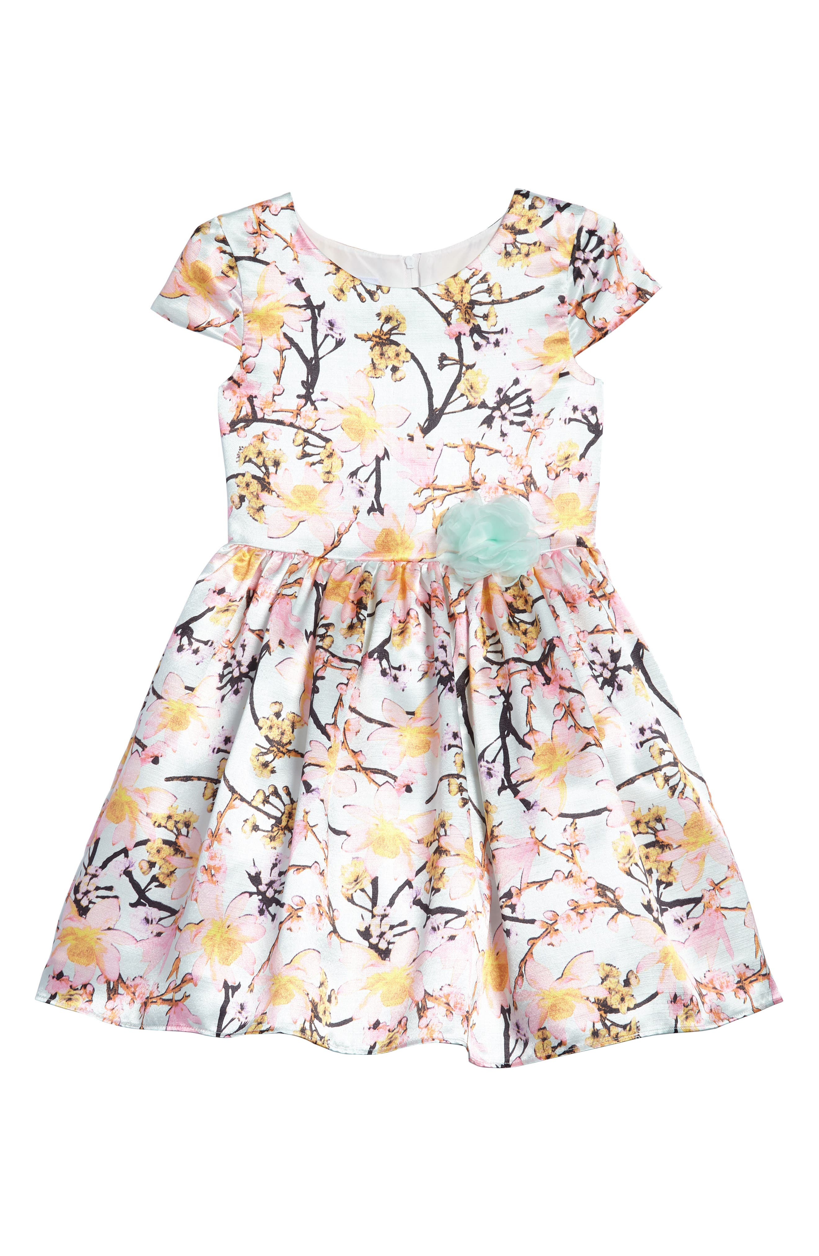 Main Image - Frais Floral Garden Party Dress (Toddler Girls, Little Girls & Big Girls)