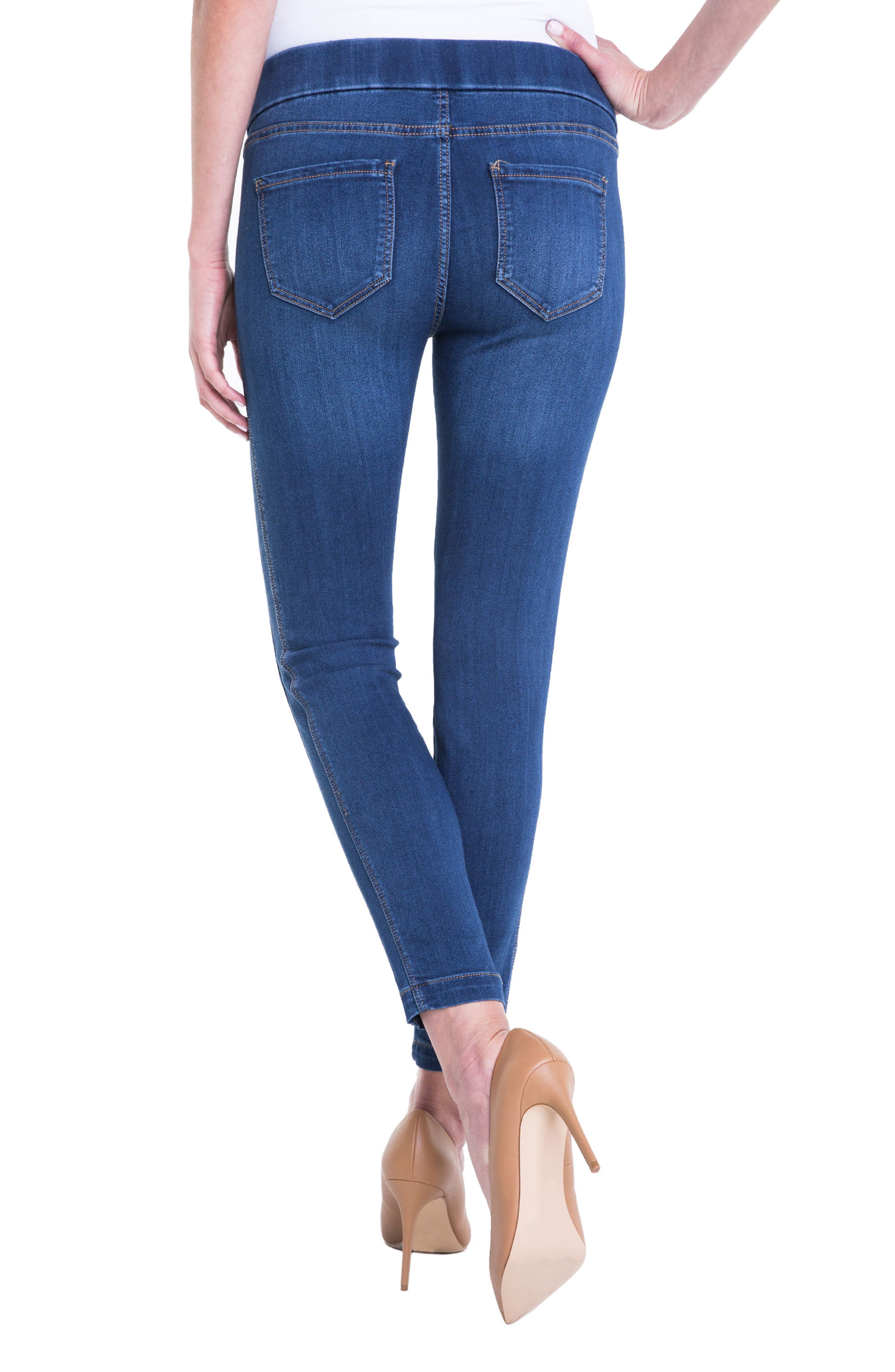 Alternate Image 2  - Liverpool Jeans Company Sophia Ankle Denim Leggings (Regular & Petite)