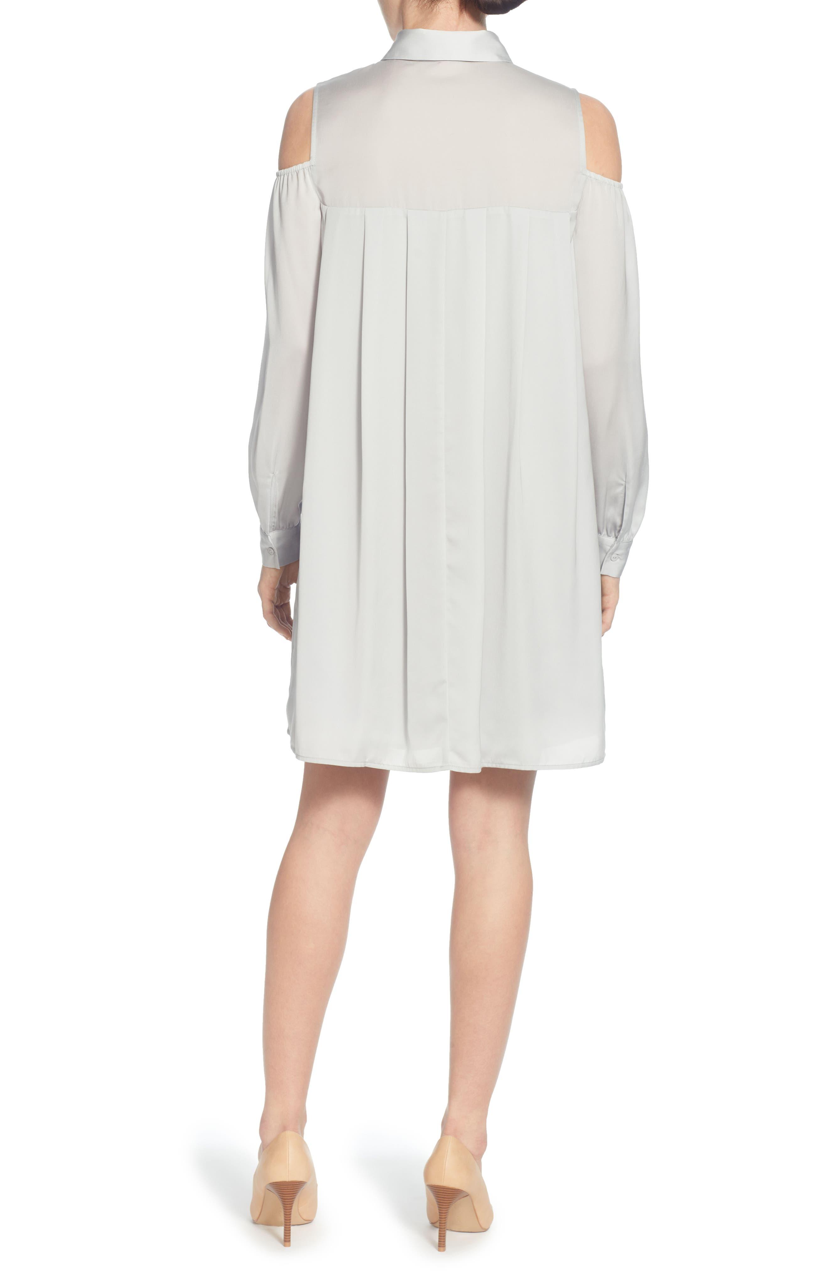 Massima Cold Shoulder Dress,                             Alternate thumbnail 2, color,                             Grey