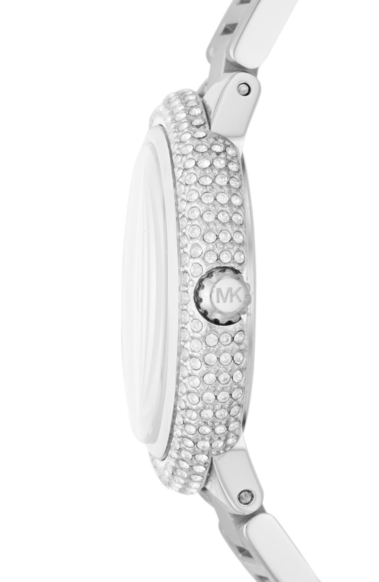 Taryn Crystal Bracelet Watch, 33mm,                             Alternate thumbnail 2, color,                             Silver/ Turquoise/ Silver