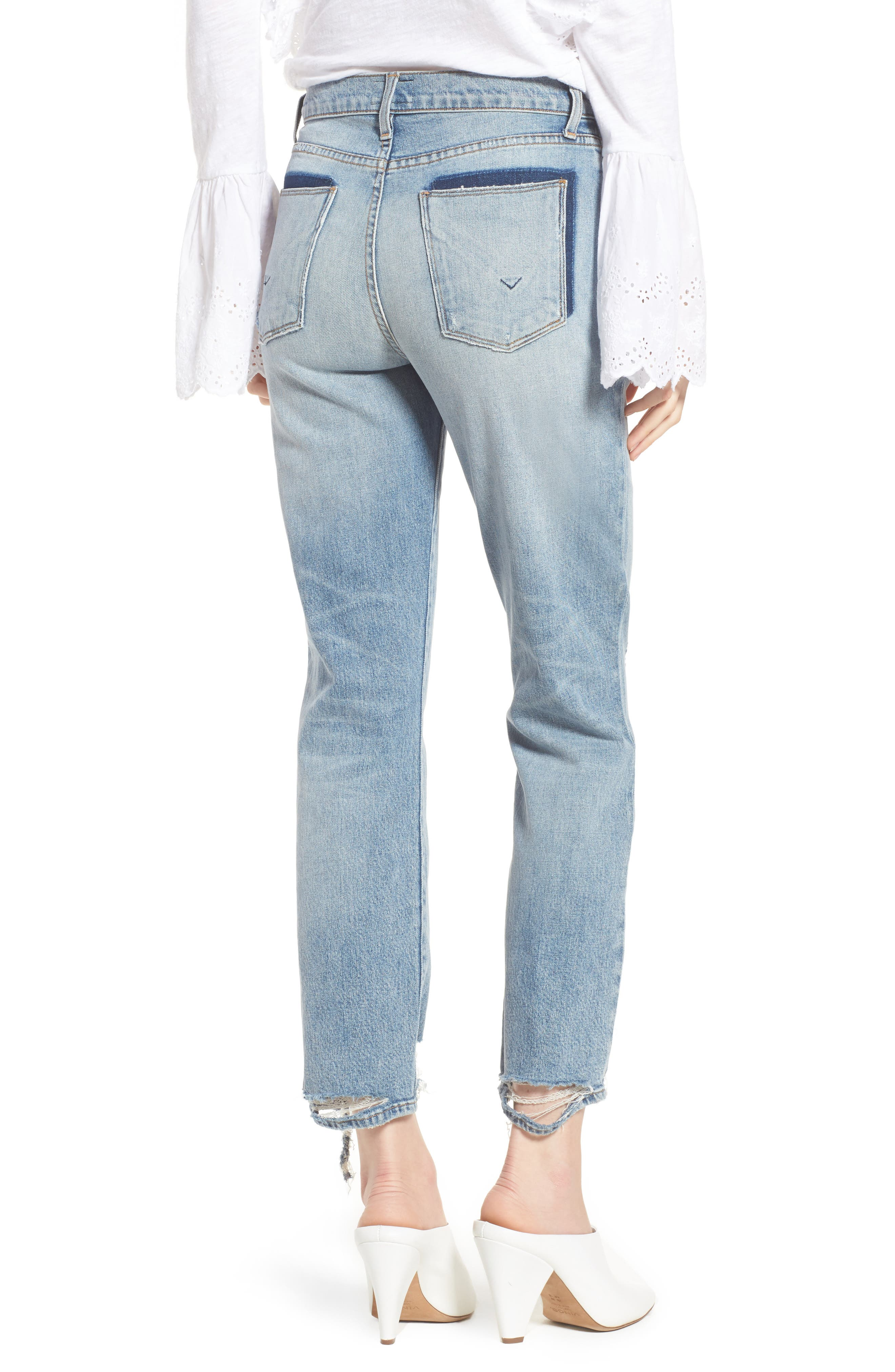 Zoeey High Waist Ankle Straight Leg Jeans,                             Alternate thumbnail 2, color,                             Dip Out