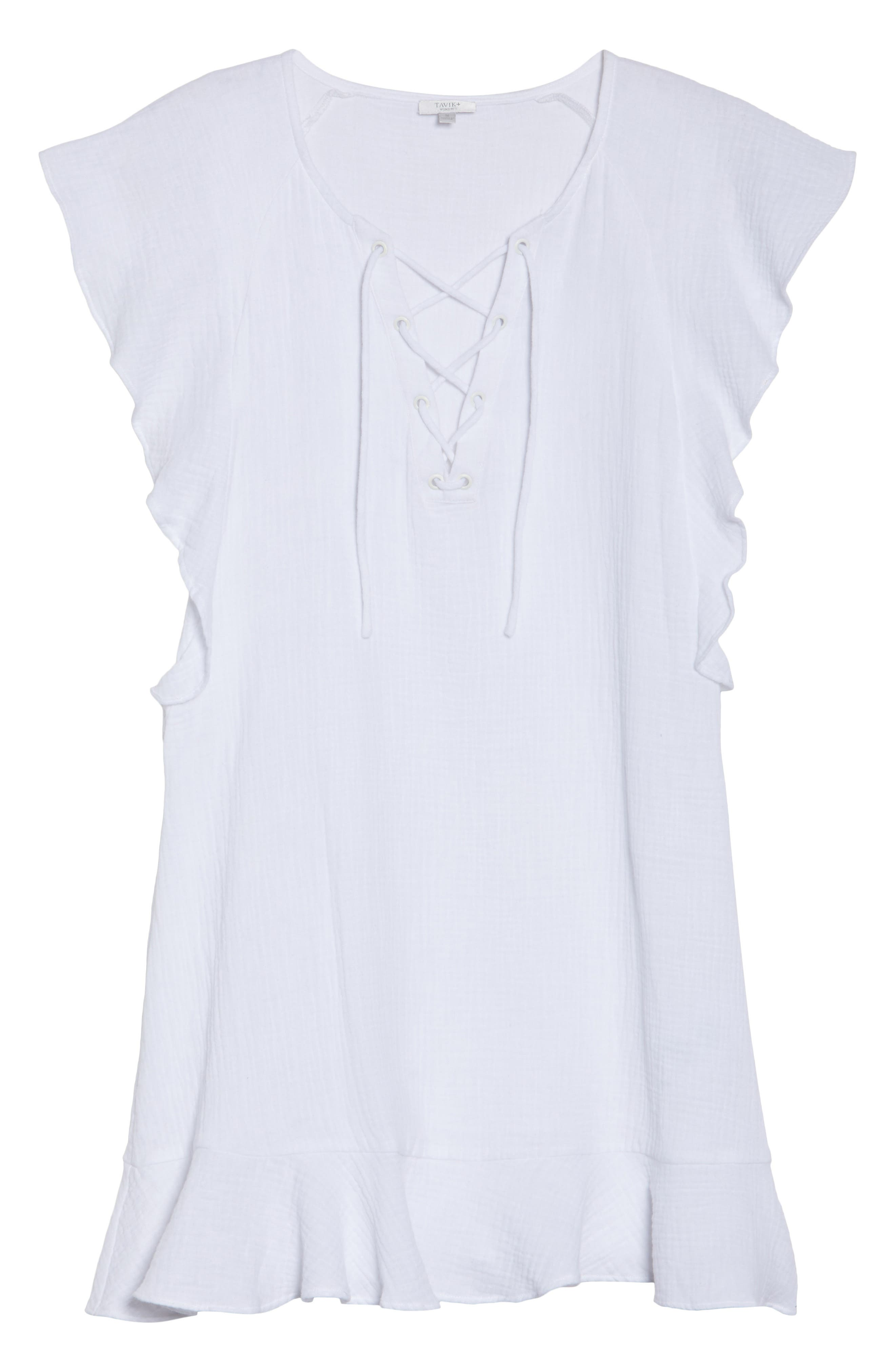 Fia Cover-Up Dress,                             Alternate thumbnail 6, color,                             White