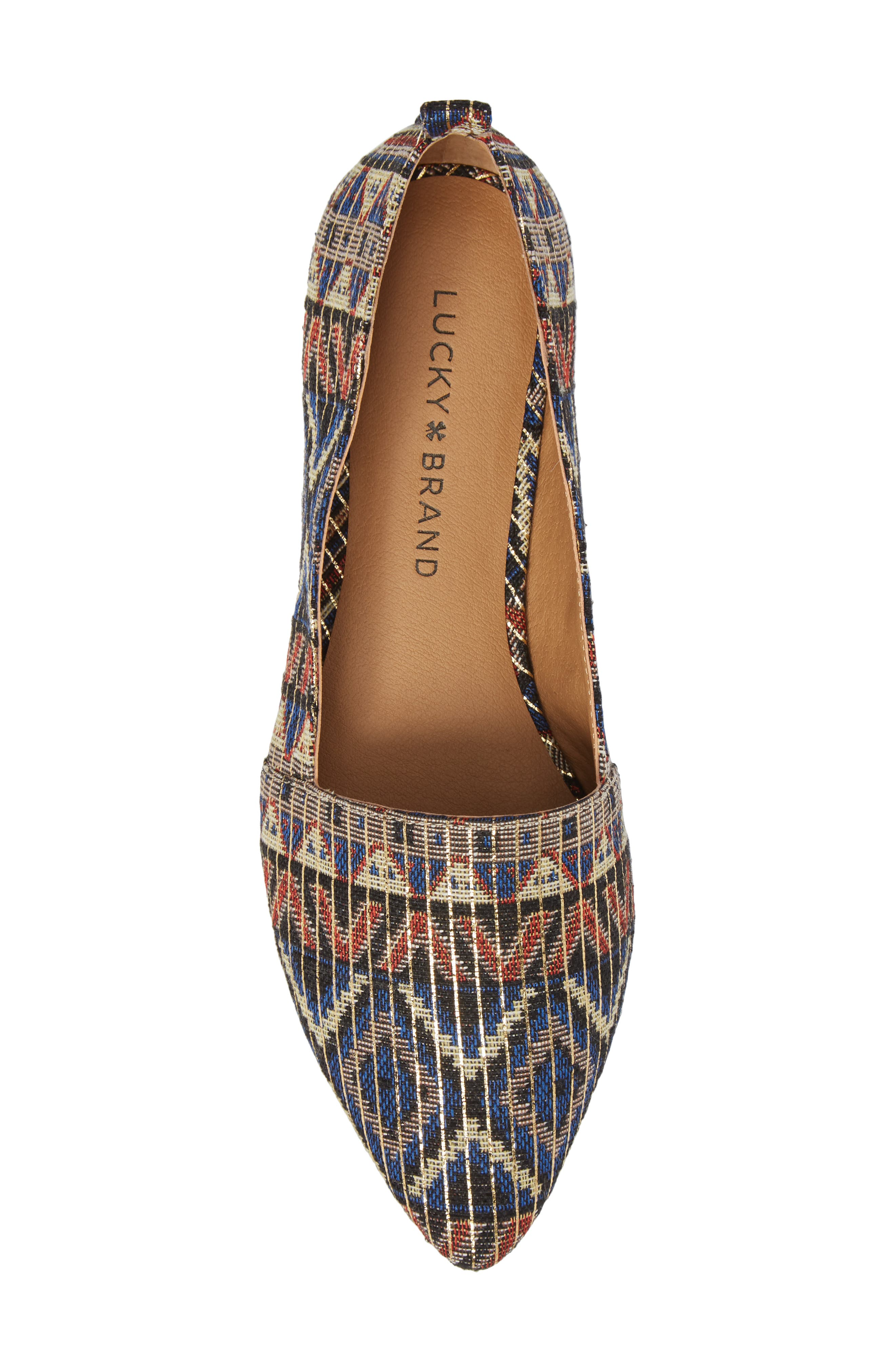 Beechmer Pointy Toe Flat,                             Alternate thumbnail 5, color,                             Picante Leather