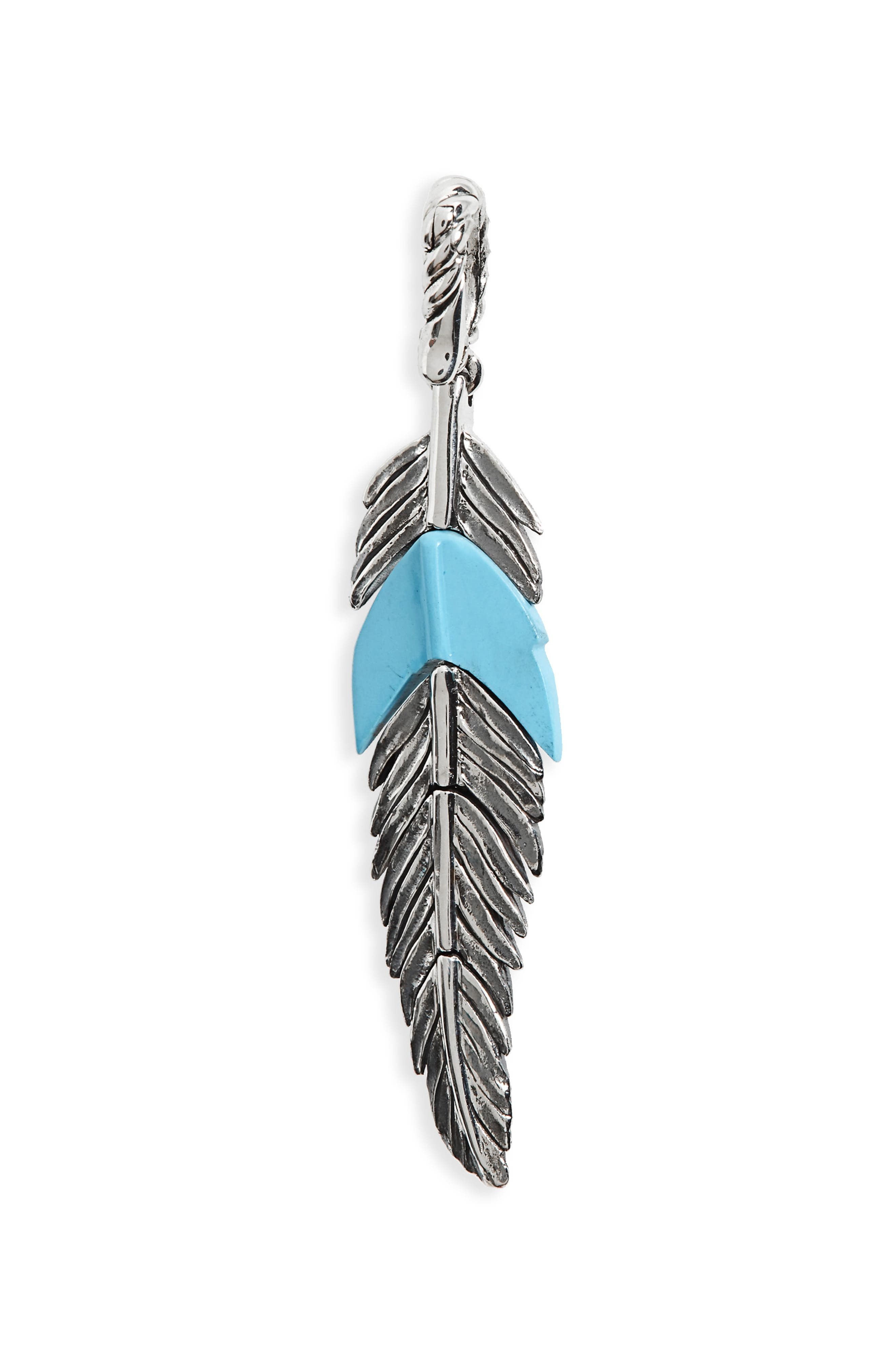 David Yurman Feather Amulet with Turquoise