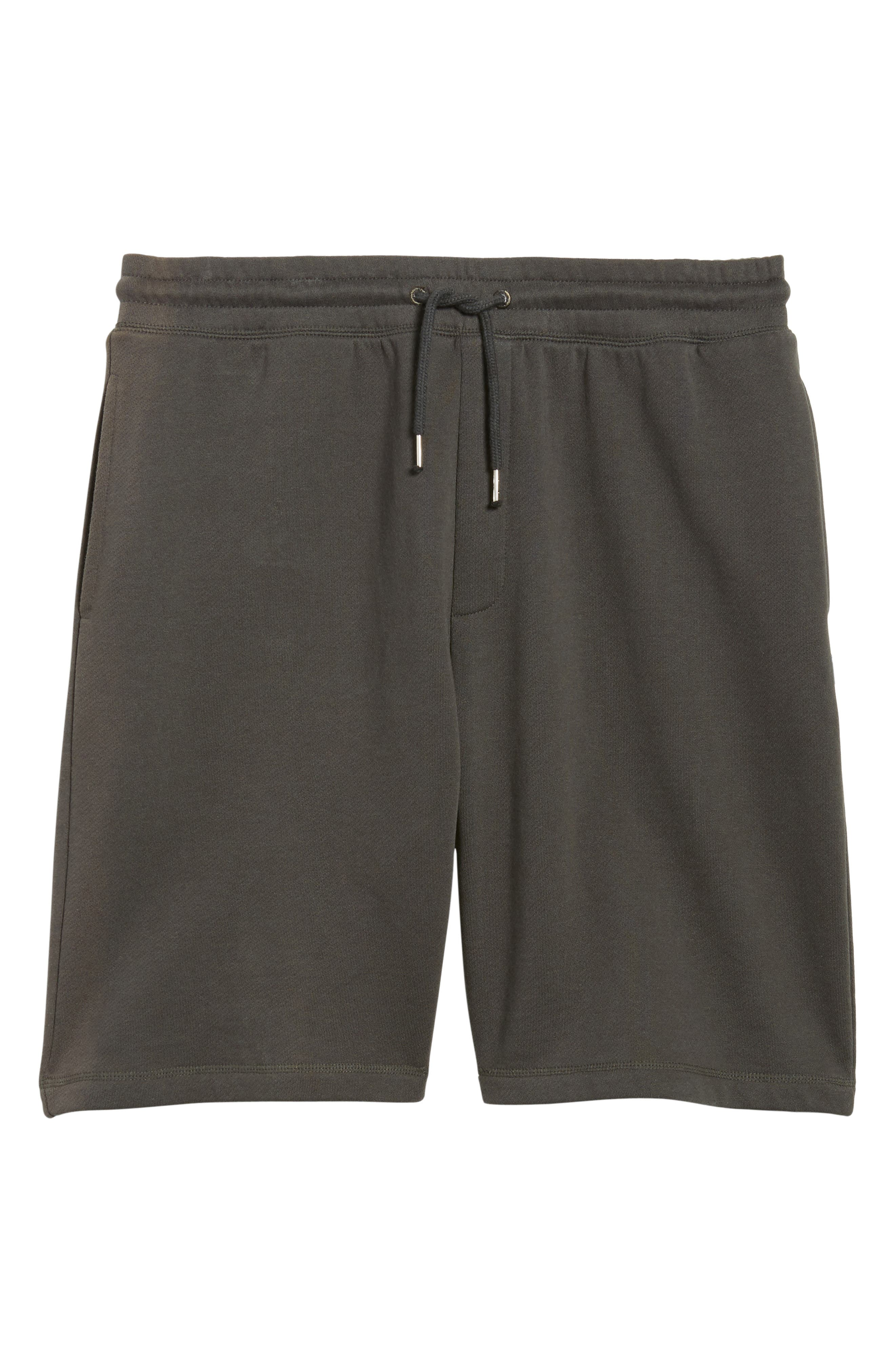 Marty Fleece Shorts,                             Alternate thumbnail 6, color,                             Pirate Black