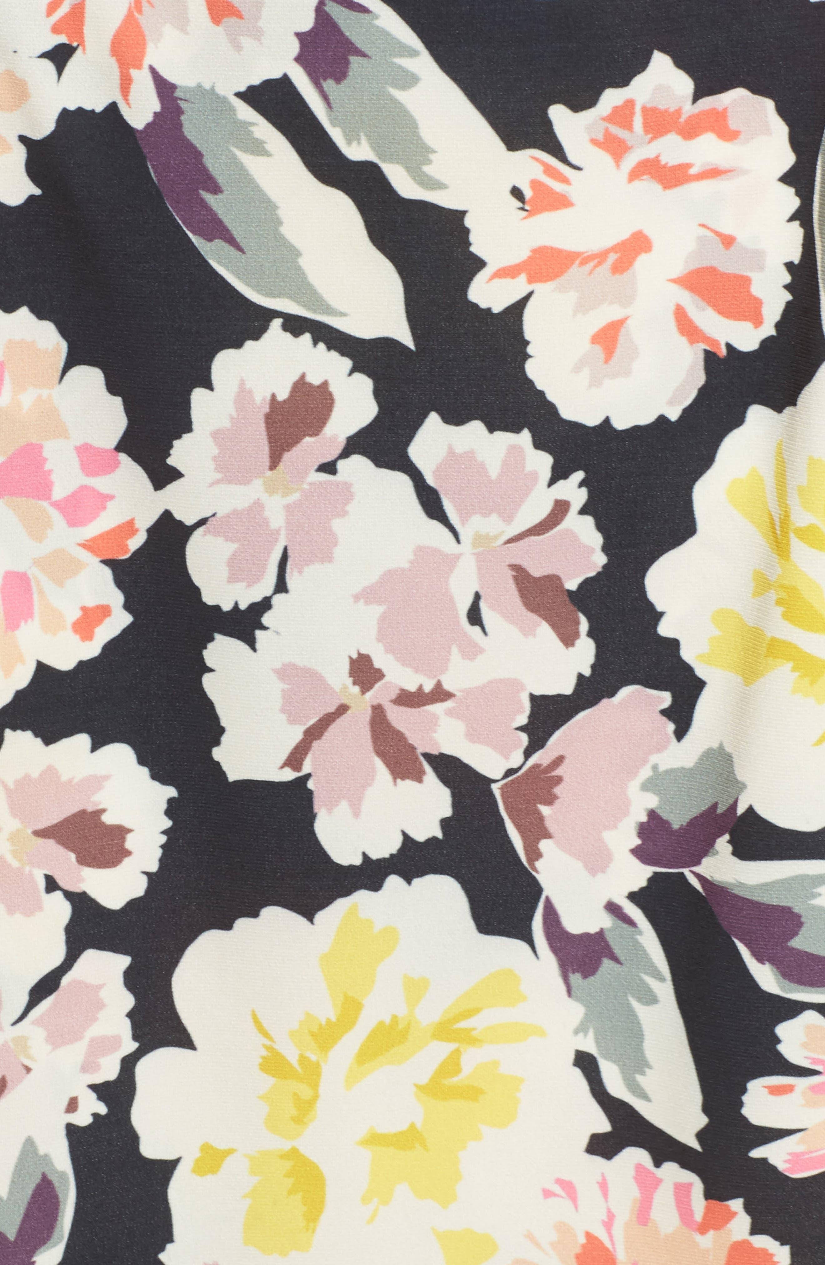 Enoshima Sheath Dress,                             Alternate thumbnail 5, color,                             Black Multi