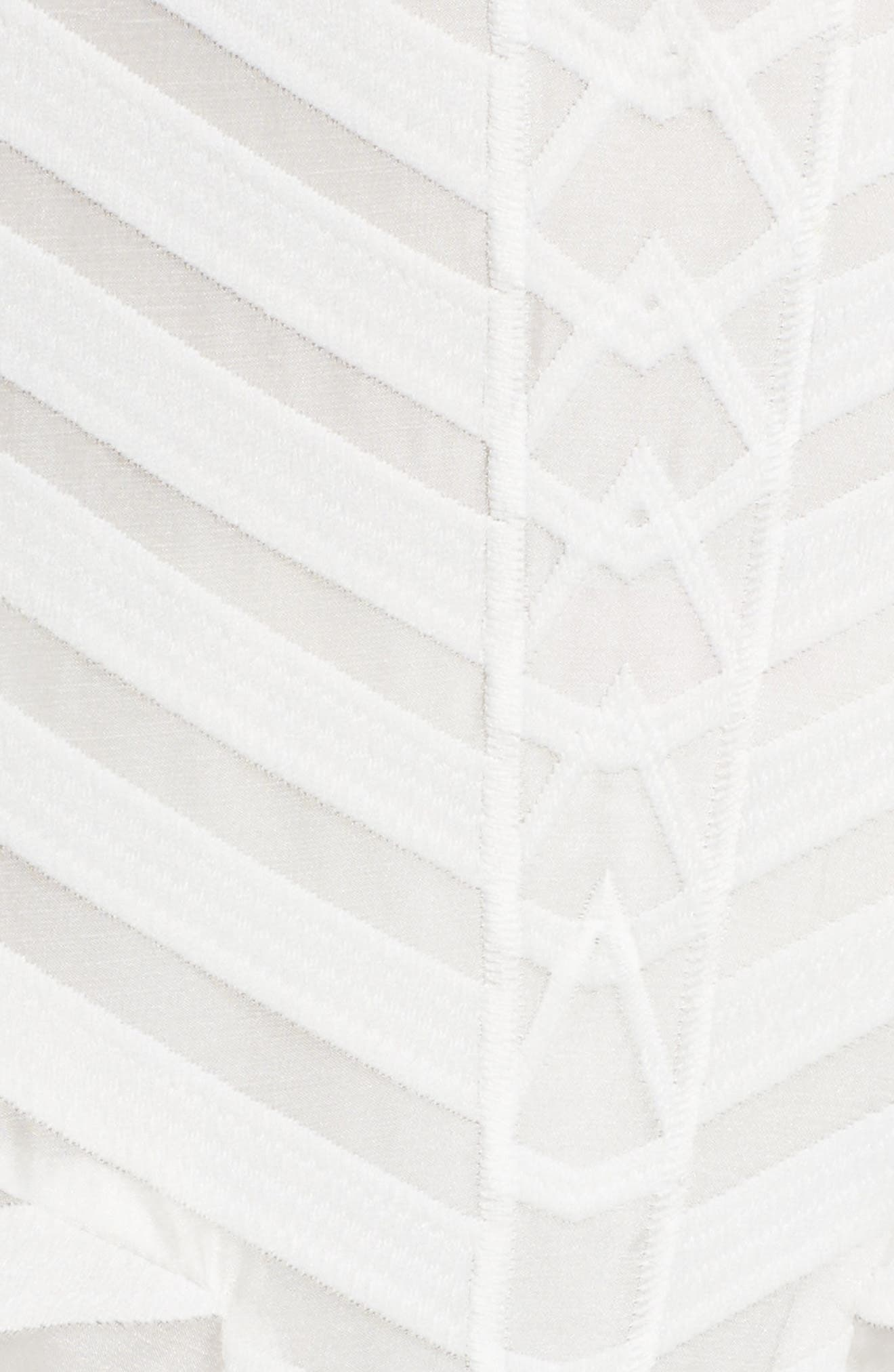 Fit & Flare Dress,                             Alternate thumbnail 5, color,                             White Snow
