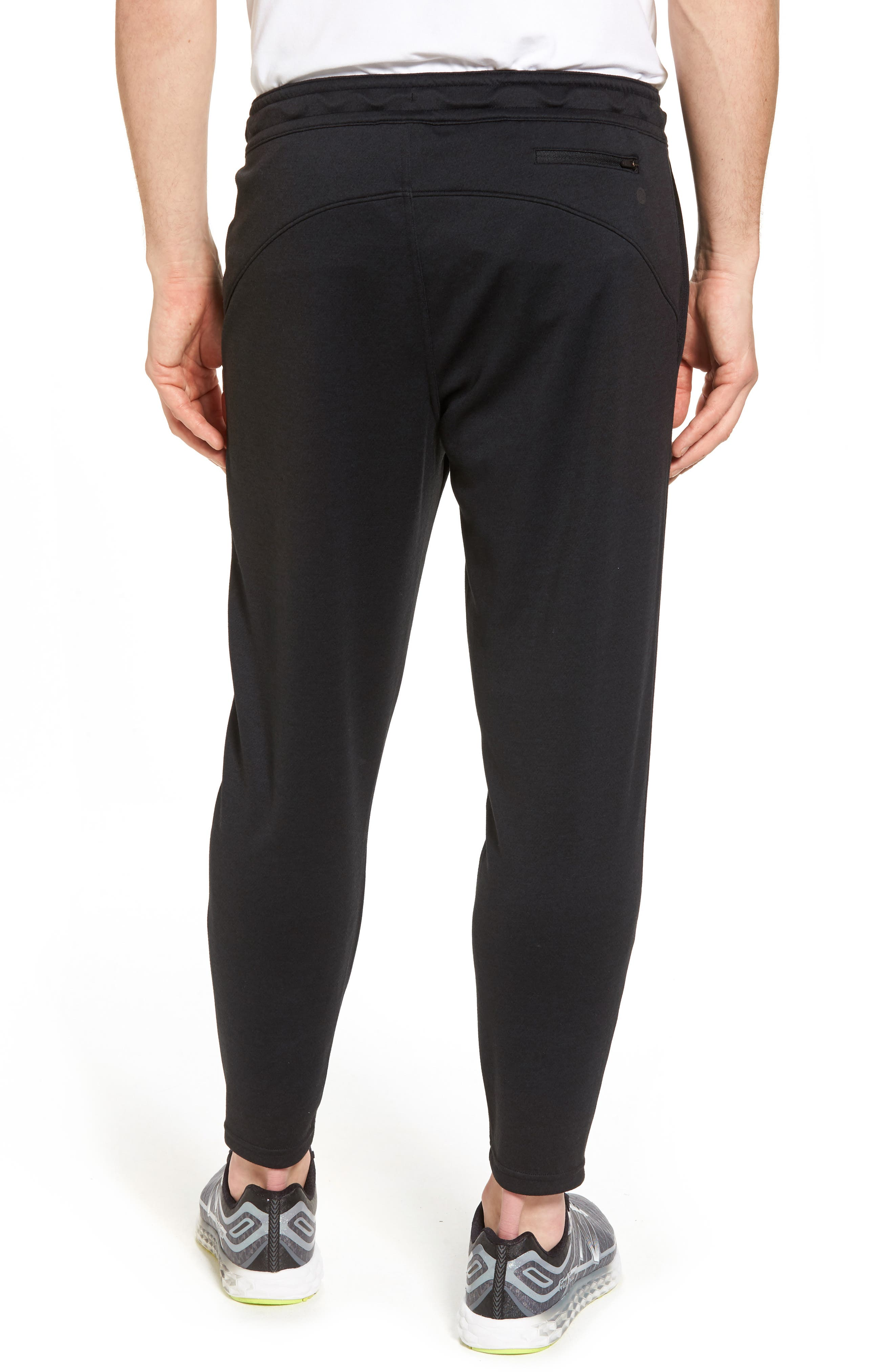 Cropped Jogger Pants,                             Alternate thumbnail 2, color,                             Black