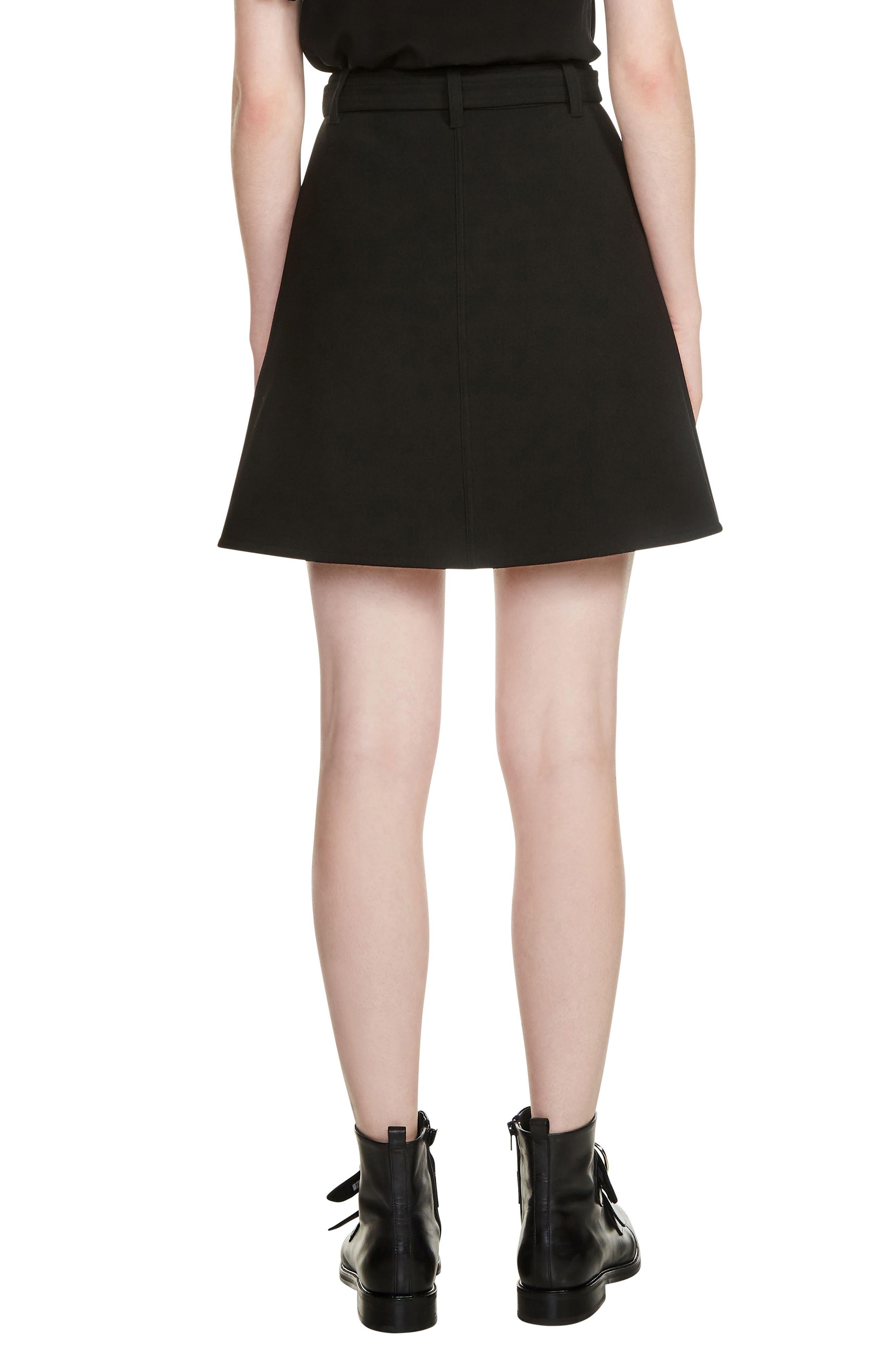 Jibrali Snap Mini Skirt,                             Alternate thumbnail 2, color,                             Black 210