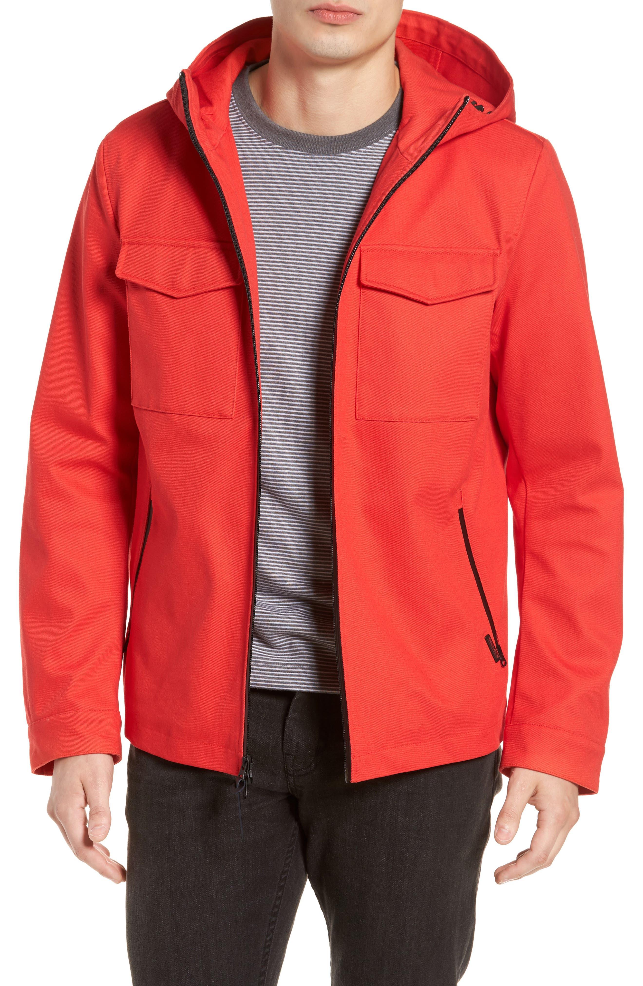 & Bros. Crew Field Jacket,                         Main,                         color, Aurora Red