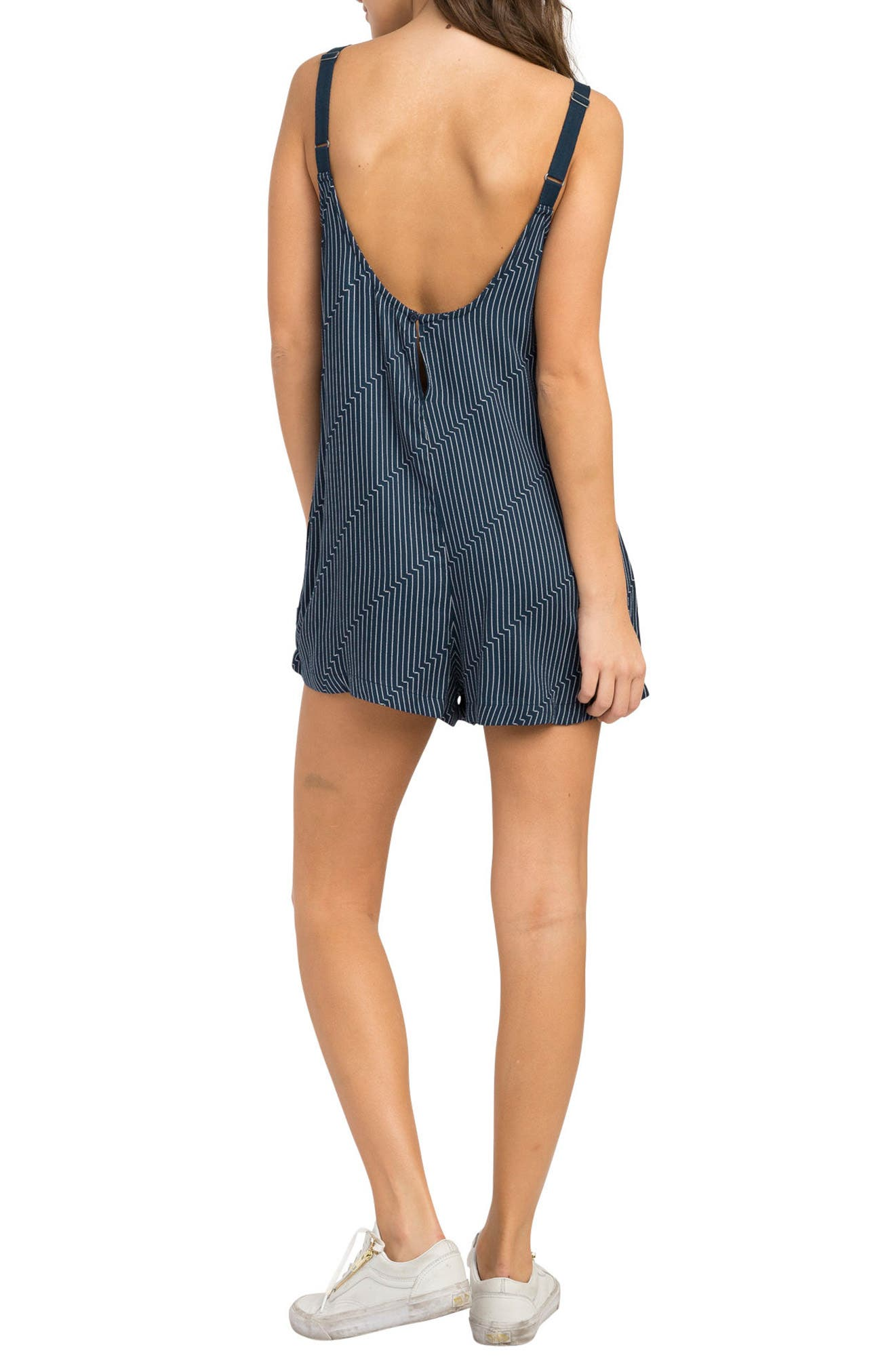 Jury's Out Zigzag Romper,                             Alternate thumbnail 2, color,                             Navy