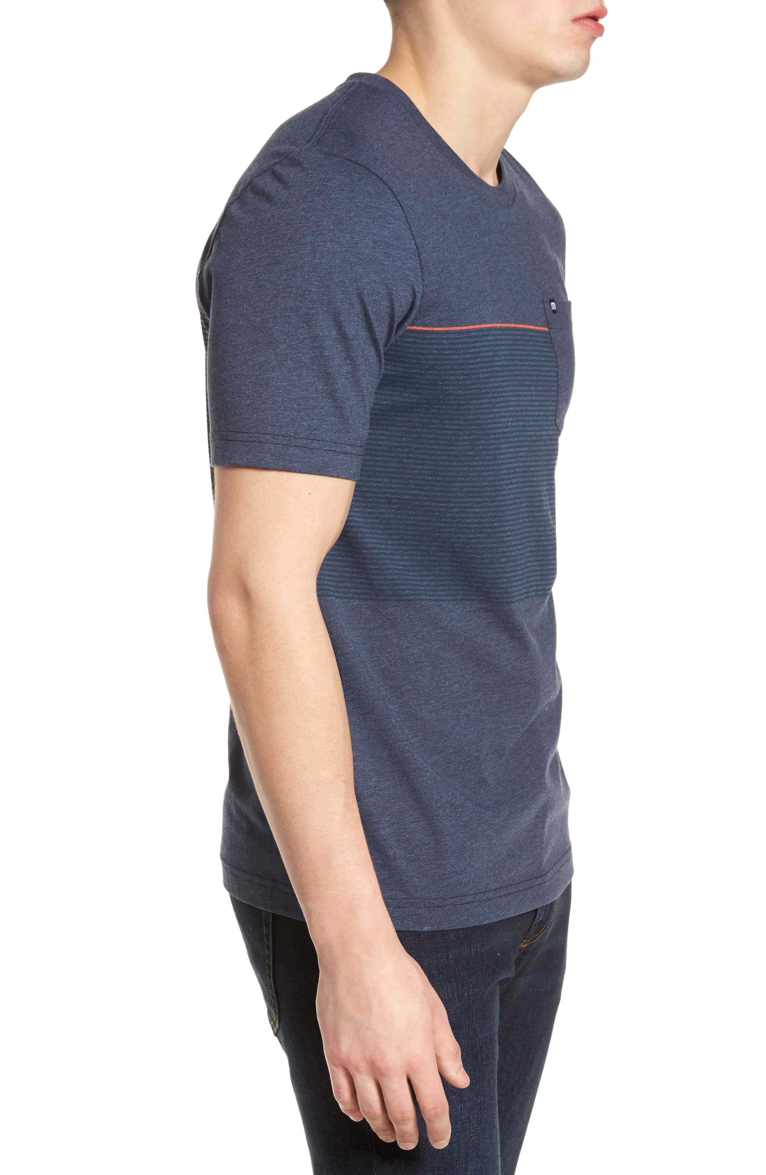 Alternate Image 3  - Travis Mathew Jeramie Stripe Pocket T-Shirt
