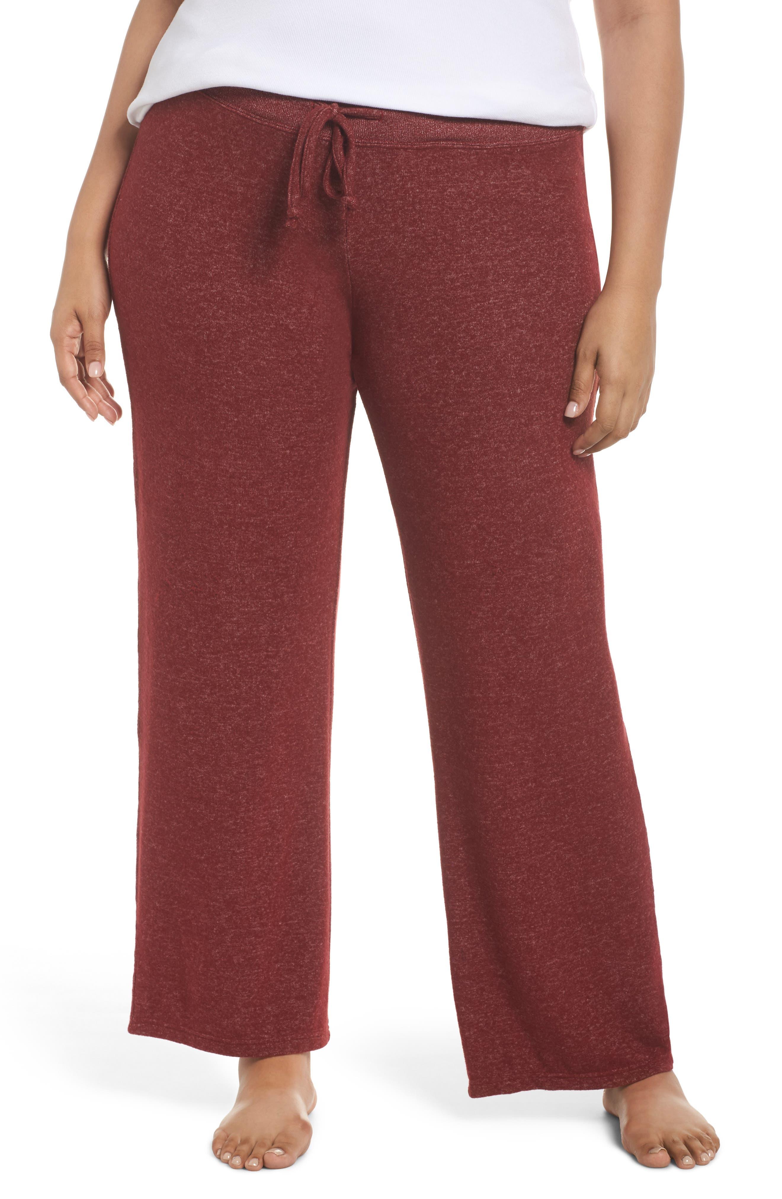 'Best Boyfriend' Brushed Hacci Lounge Pants,                         Main,                         color, Red Grape