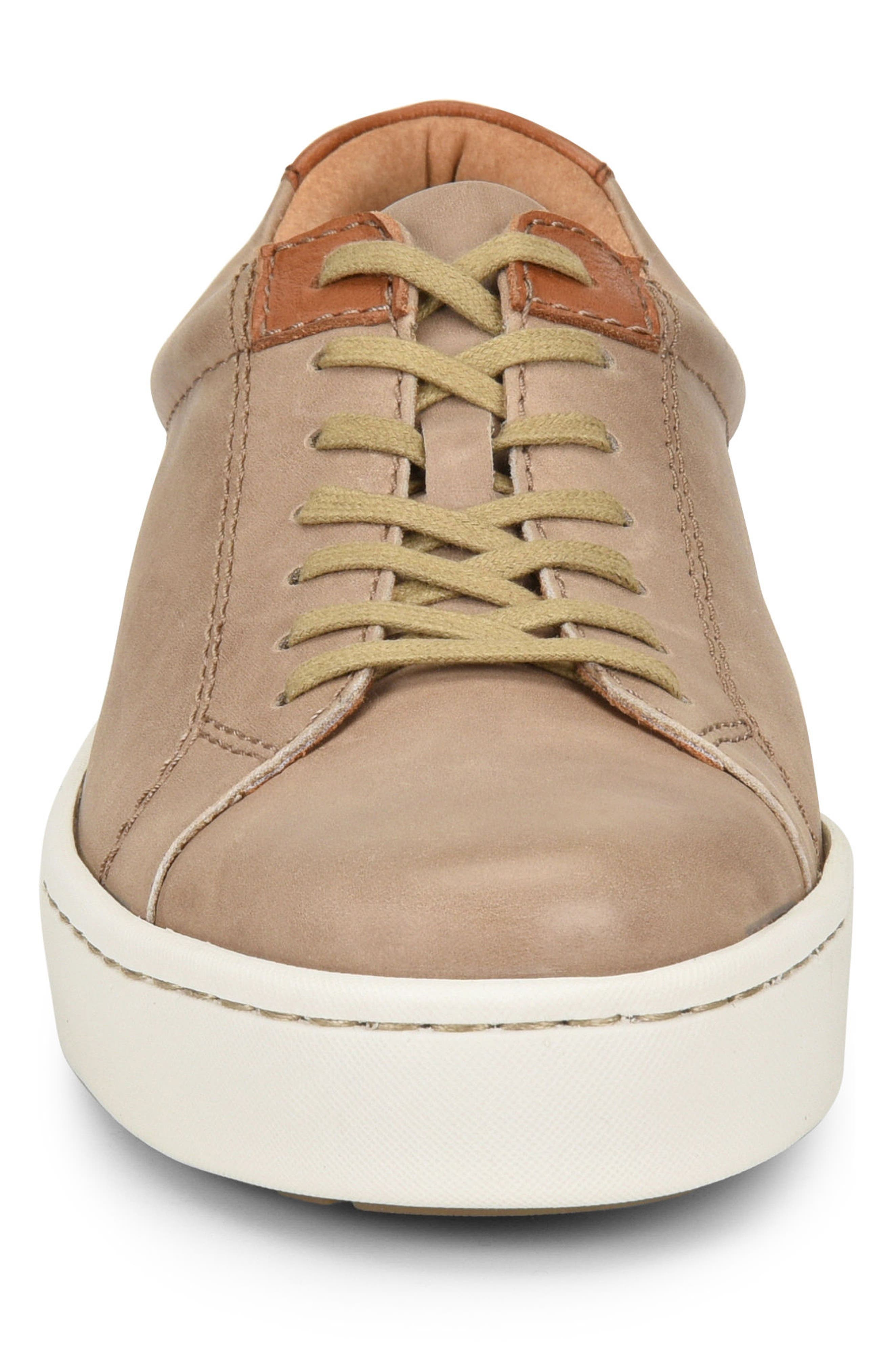 Jib Sneaker,                             Alternate thumbnail 4, color,                             Taupe/ Brown Leather