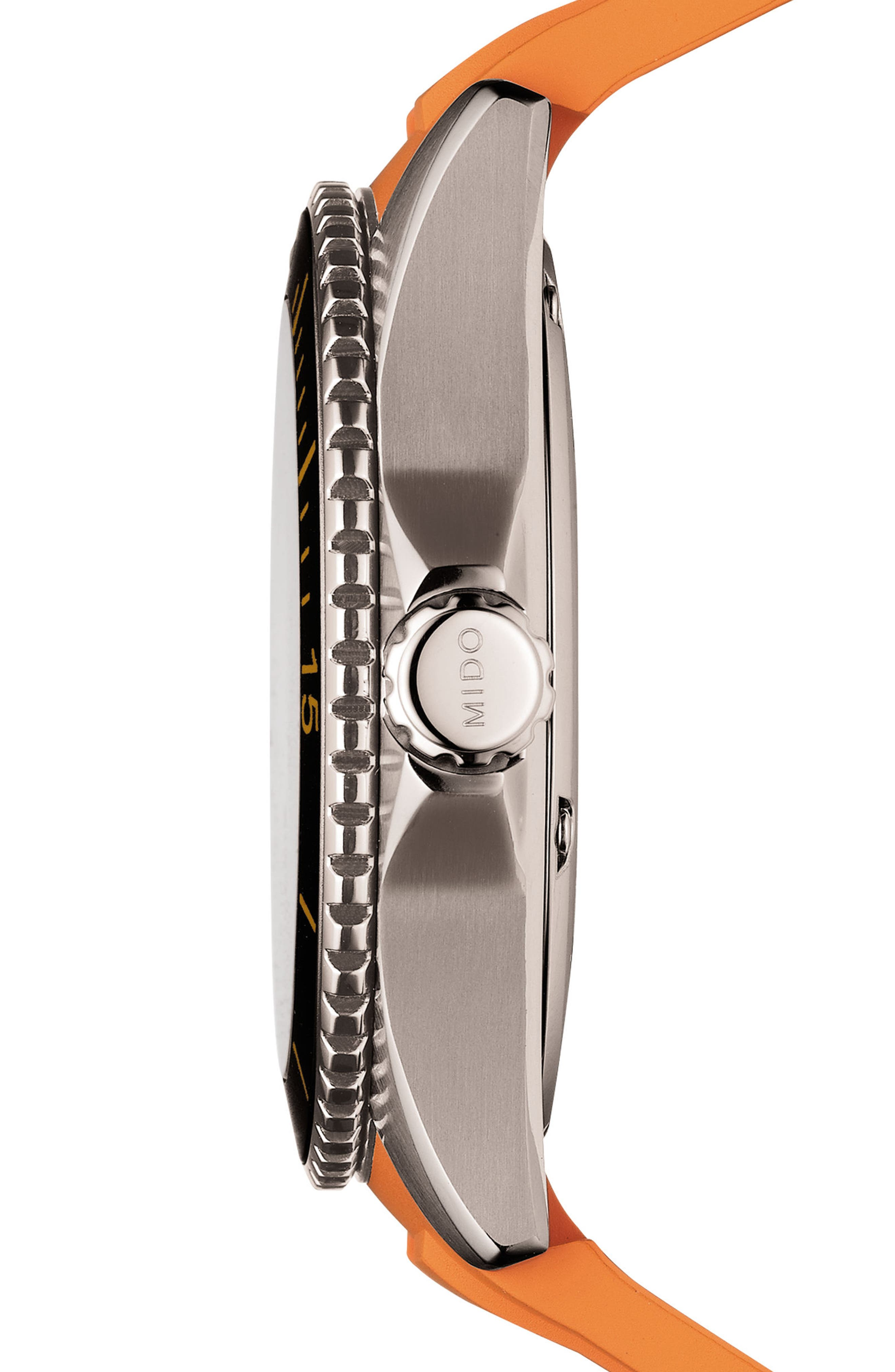Ocean Star Automatic Rubber Strap Watch, 42mm,                             Alternate thumbnail 3, color,                             Grey