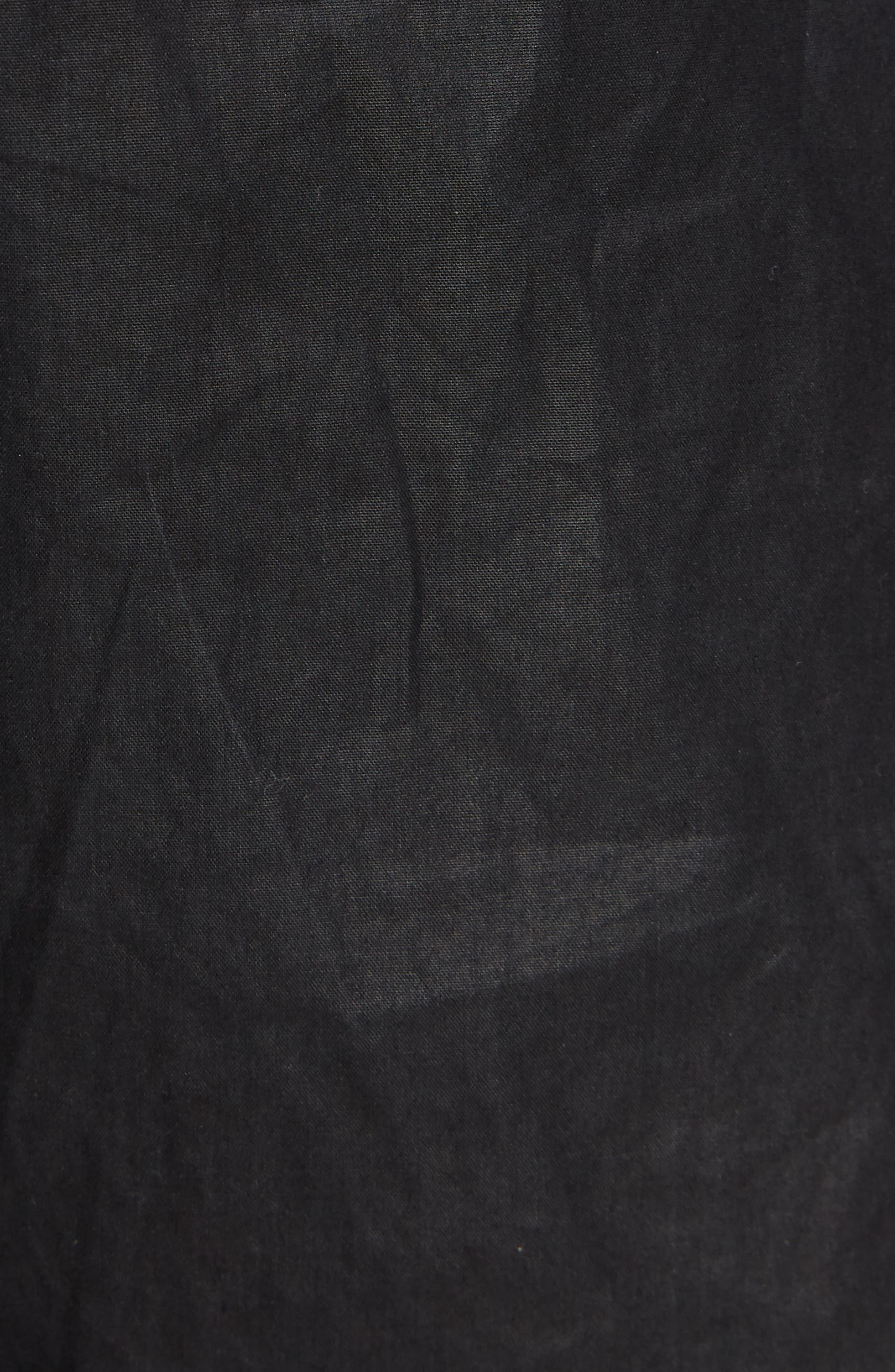 Coated Crop Jogger Pants,                             Alternate thumbnail 6, color,                             Black