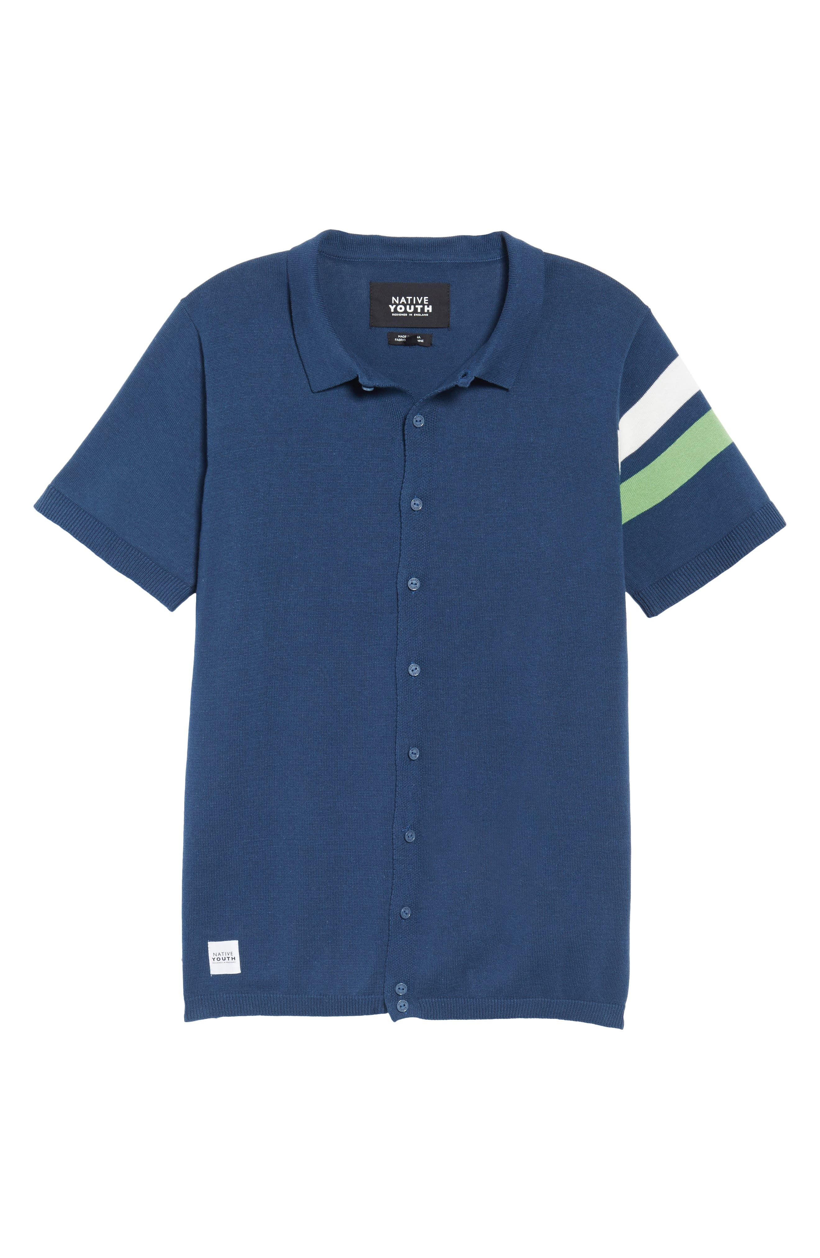 Abyss Knit Shirt,                             Alternate thumbnail 6, color,                             Navy