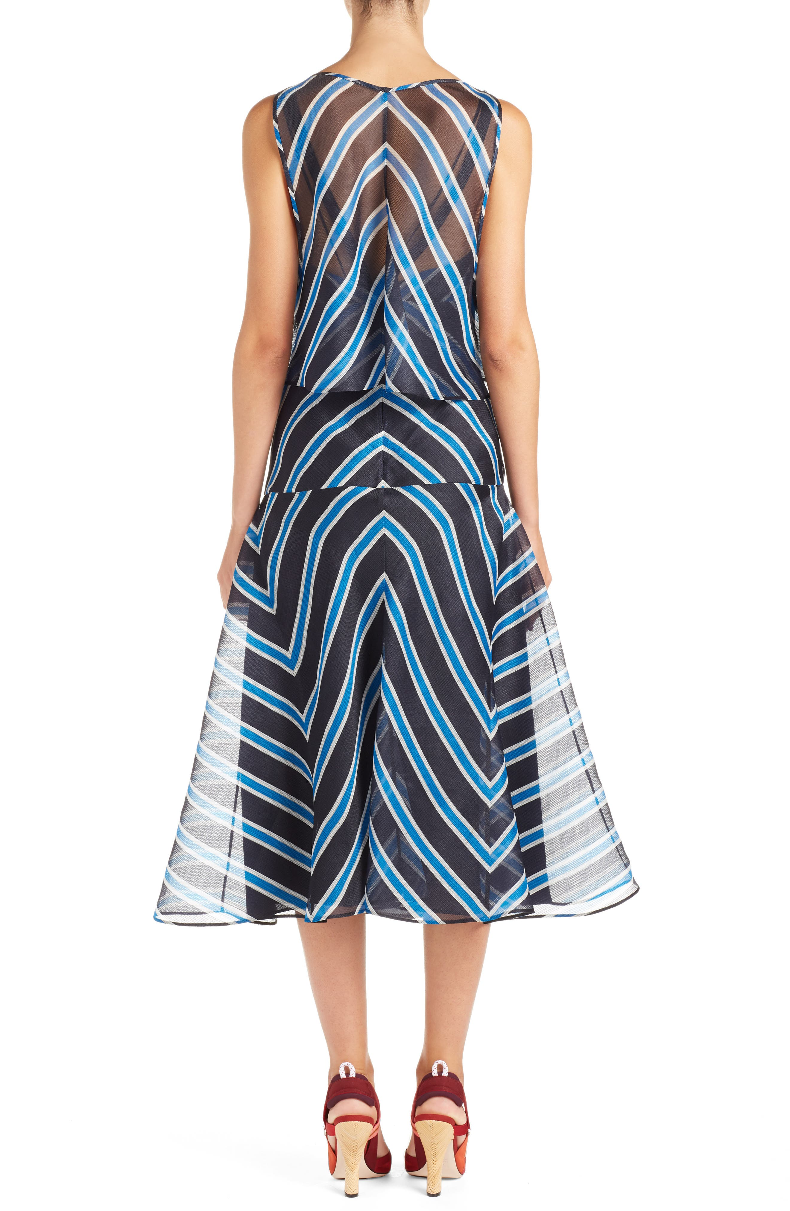 Stripe Silk Convertible Dress,                             Alternate thumbnail 2, color,                             Mercury