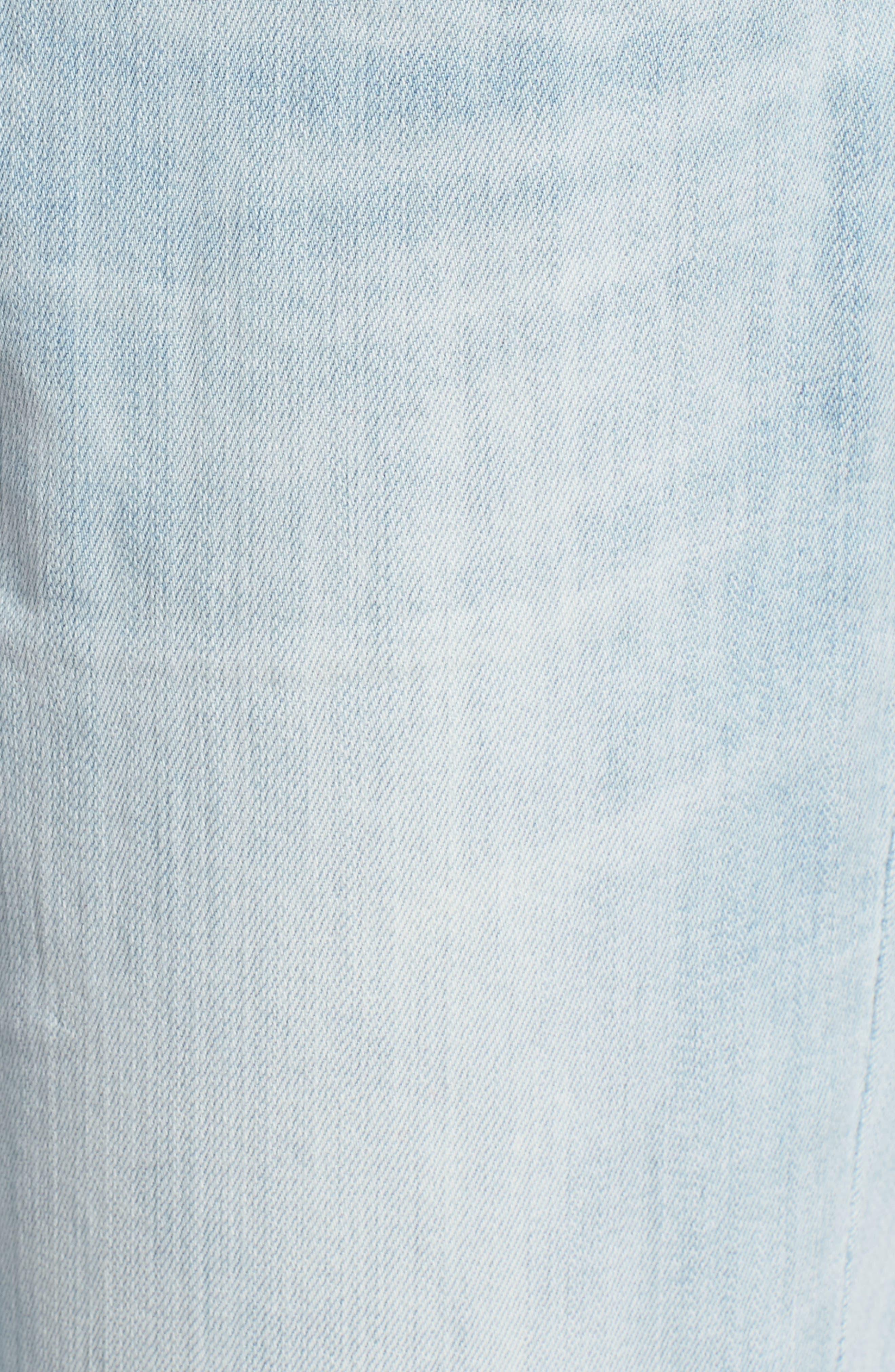 Distressed Boyfriend Jeans,                             Alternate thumbnail 6, color,                             Platinum Light Wash