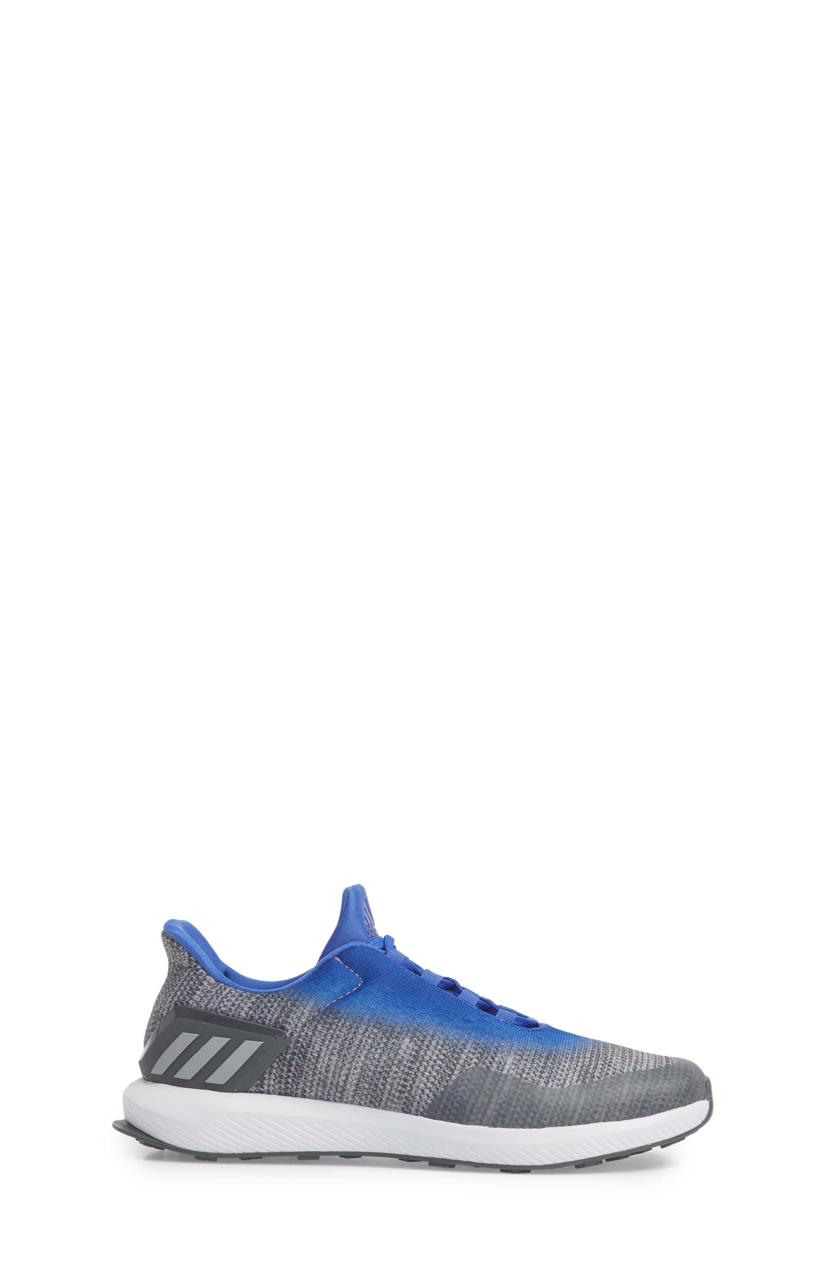 RapidaRun Uncaged Sneaker,                             Alternate thumbnail 3, color,                             Grey / Grey / Blue