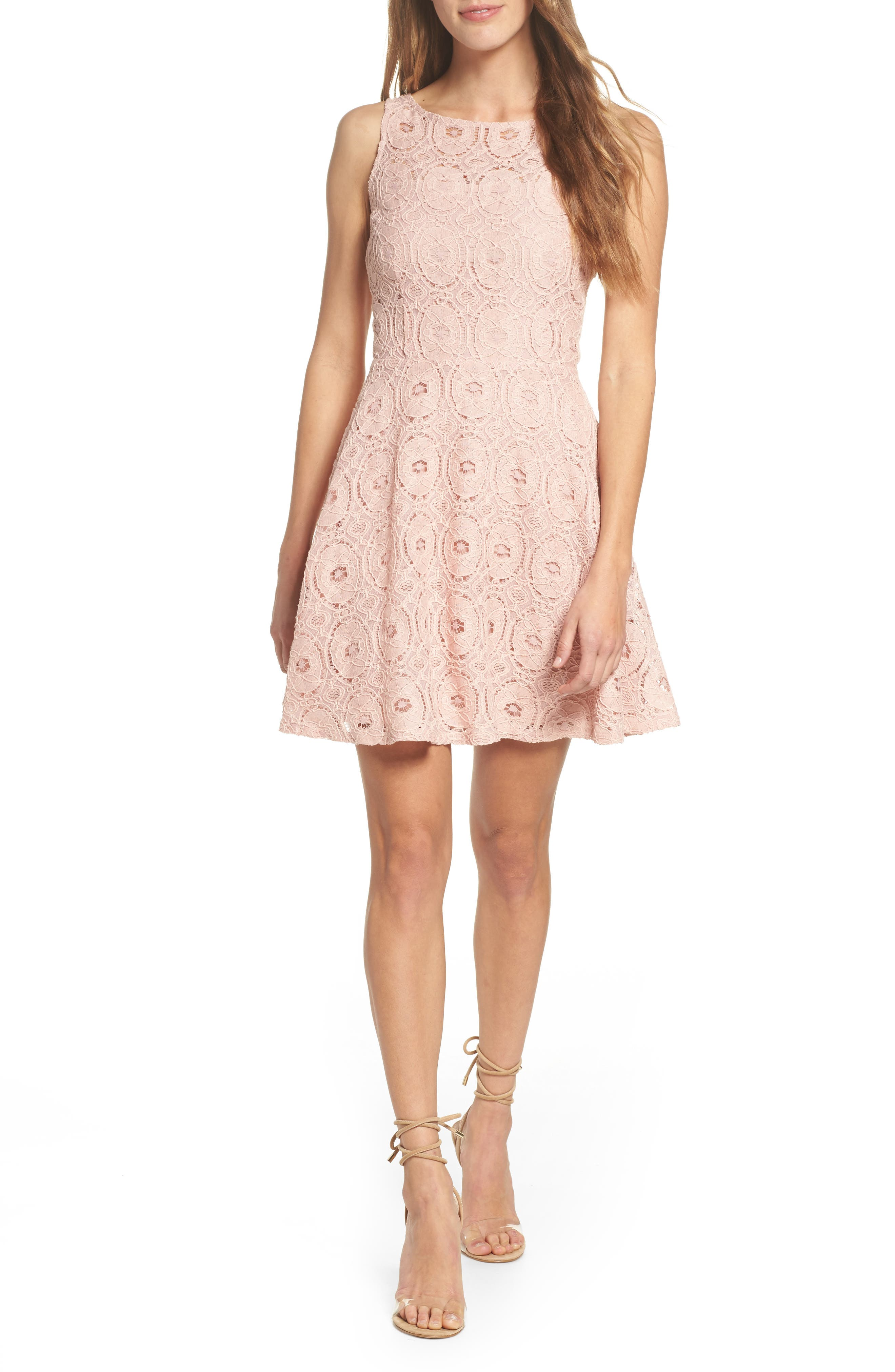 Main Image - BB Dakota 'Renley' Lace Fit & Flare Dress (Nordstrom Exclusive)