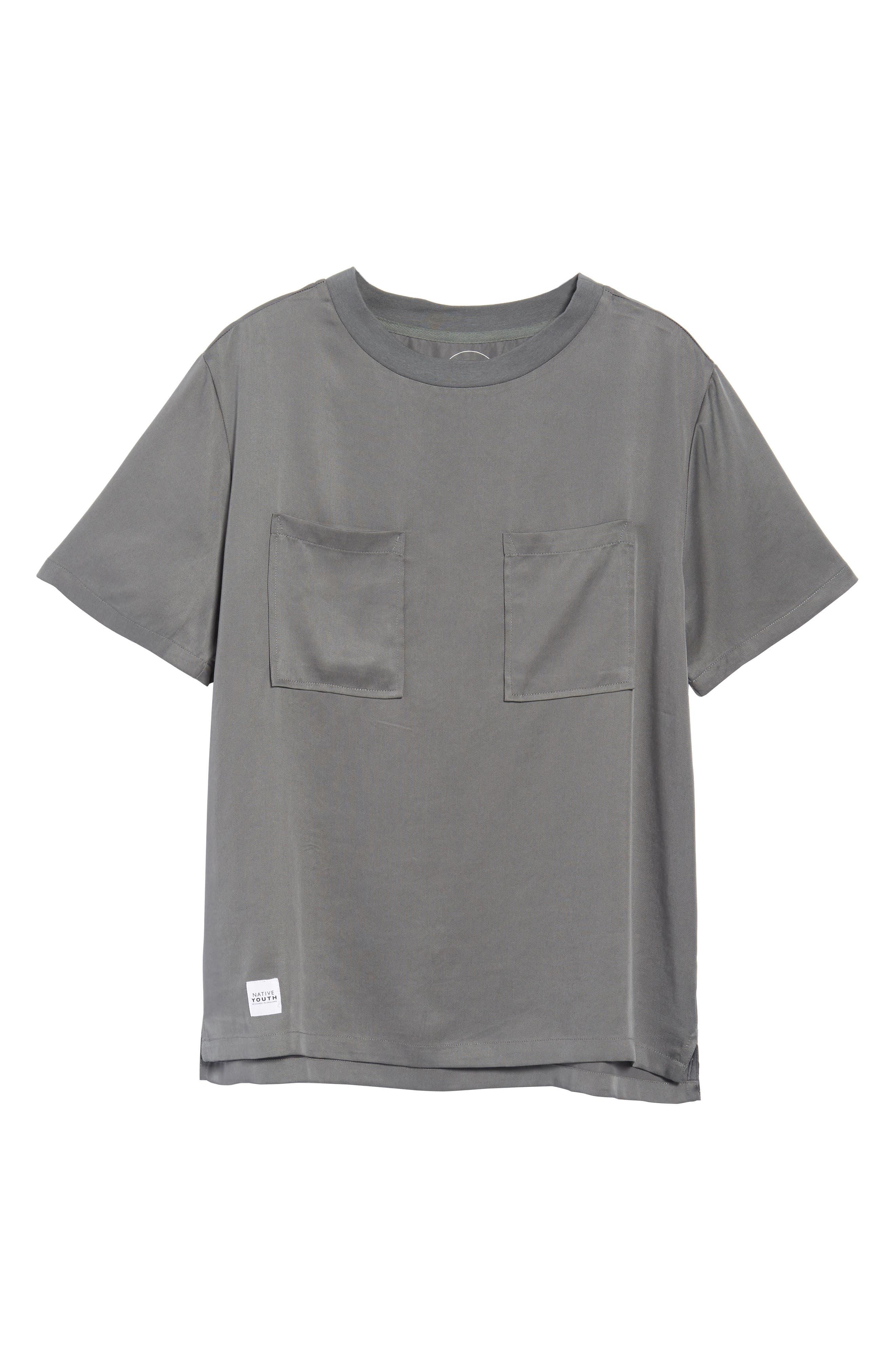 Denali Woven T-Shirt,                             Alternate thumbnail 6, color,                             Grey