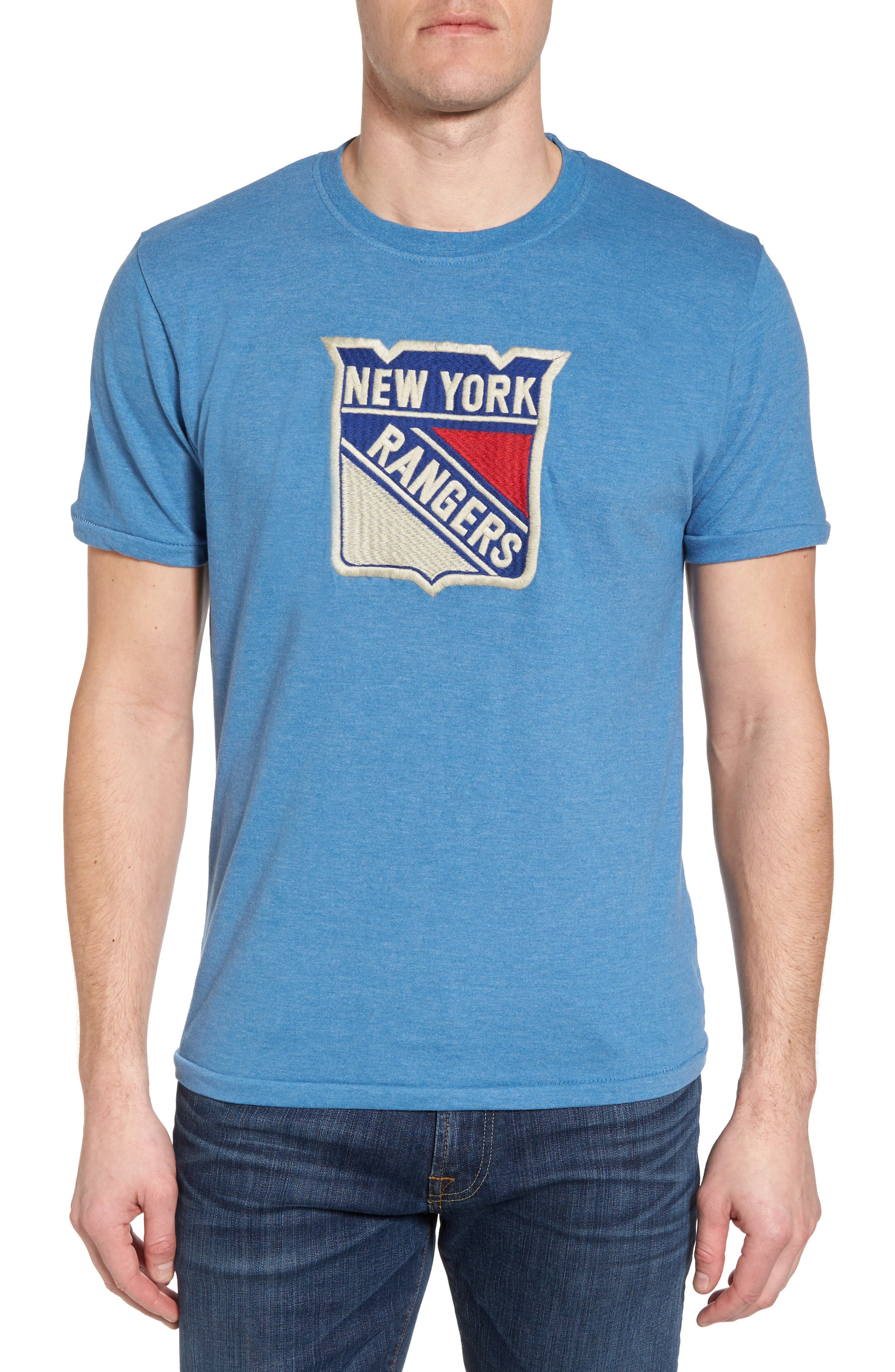 Hillwood New York Rangers T-Shirt,                         Main,                         color, Heather Royal