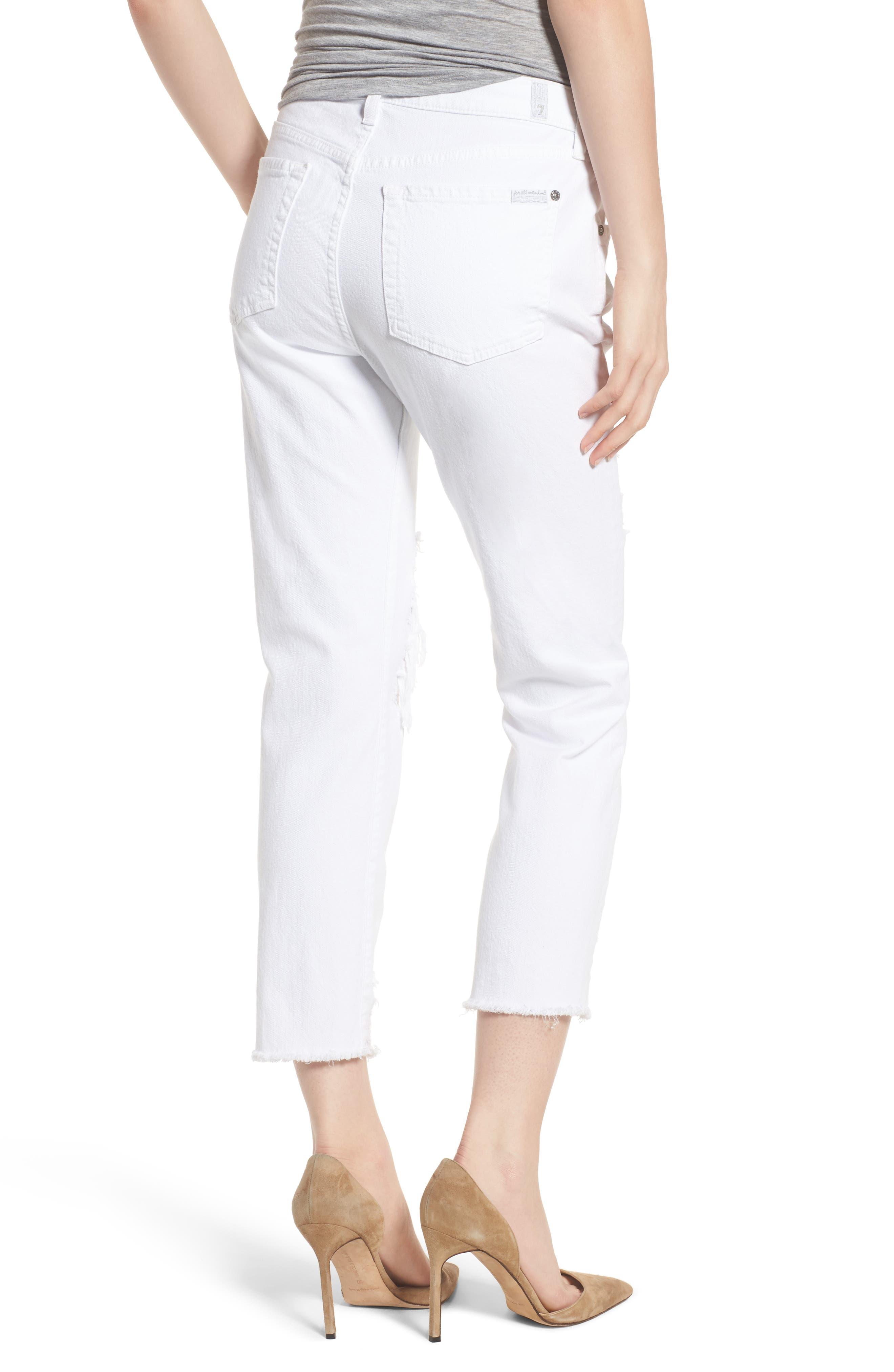 Josefina High Waist Boyfriend Jeans,                             Alternate thumbnail 2, color,                             White Fashion 2