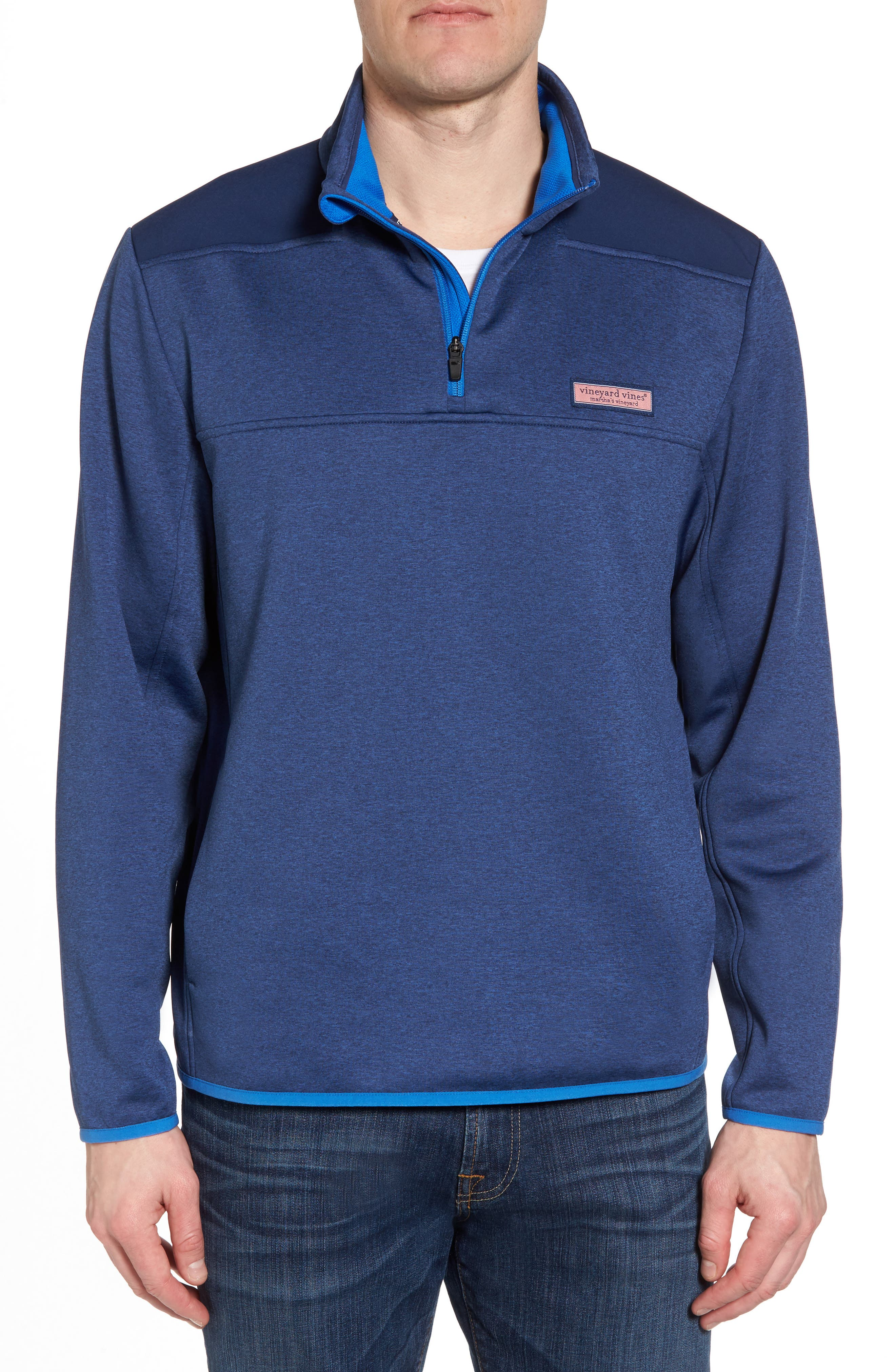 Shep Performance Fleece Quarter Zip Pullover,                             Main thumbnail 1, color,                             Deep Bay