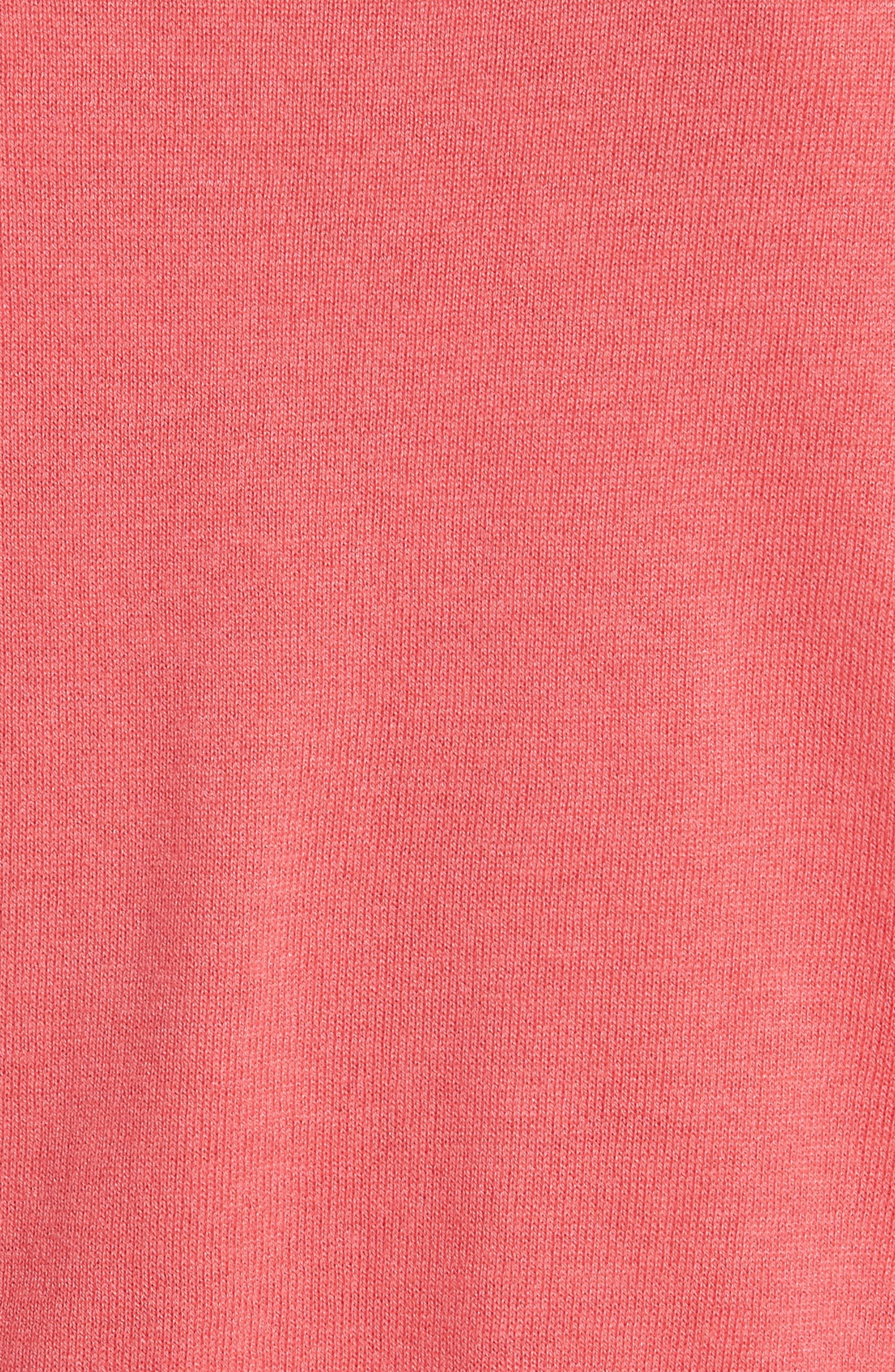 jewel button crop cardigan,                             Alternate thumbnail 5, color,                             Peach Sherbet