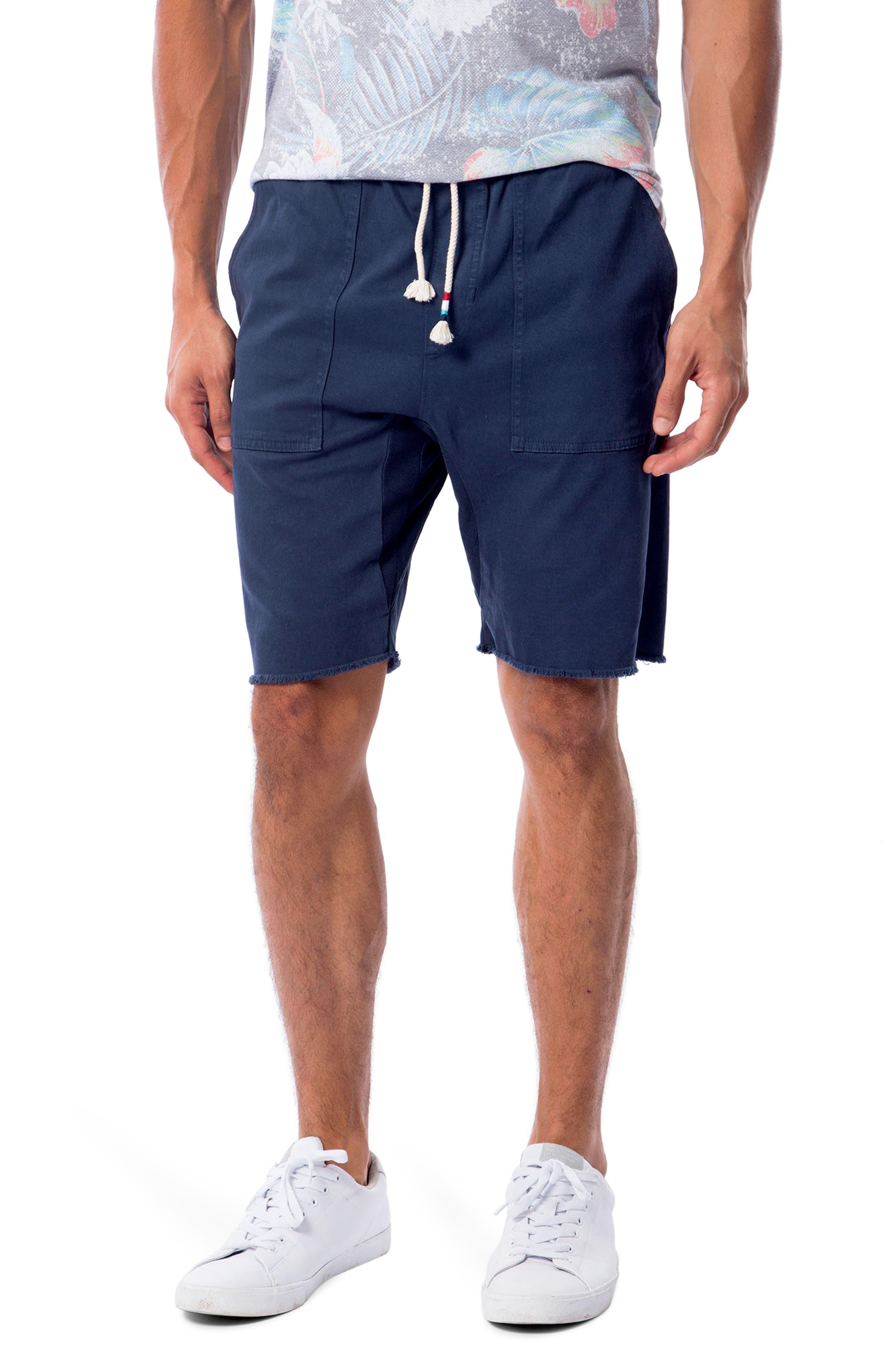 Twill Saddle Shorts,                         Main,                         color, Indigo