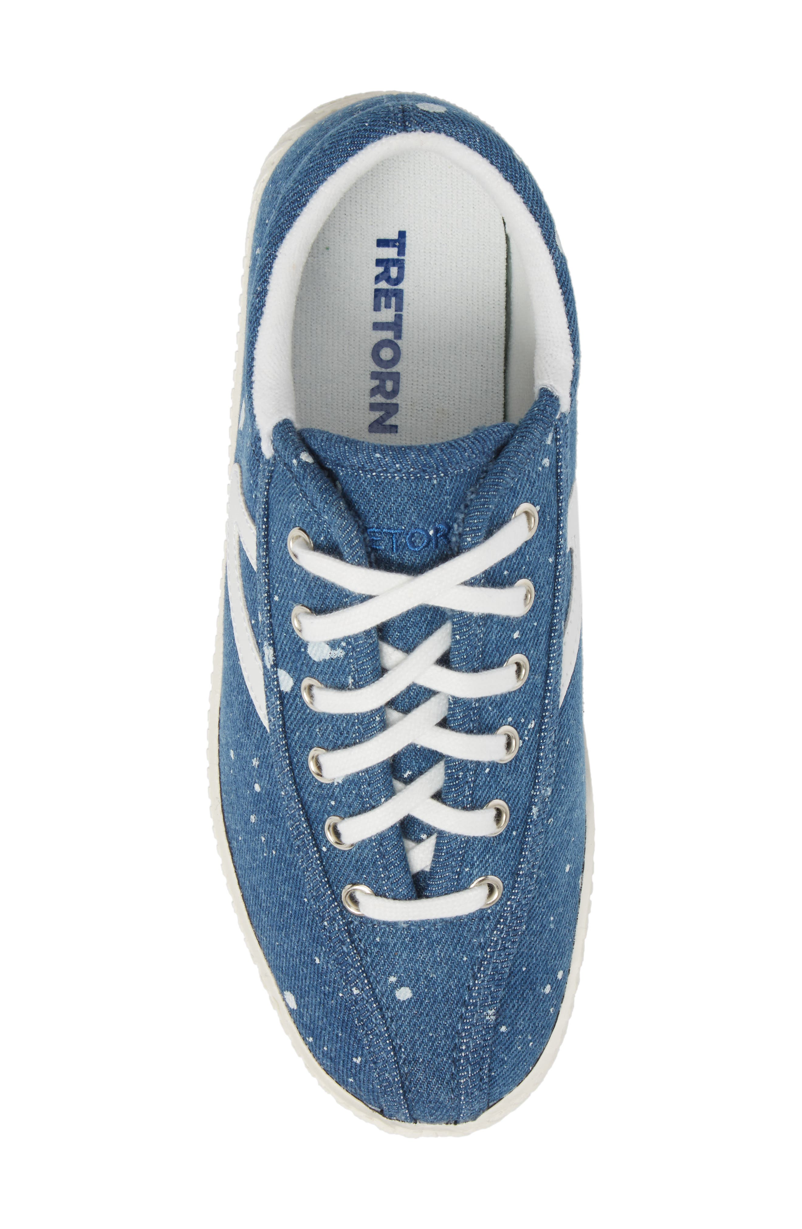 Nylite Plus Sneaker,                             Alternate thumbnail 5, color,                             Blue Fabric