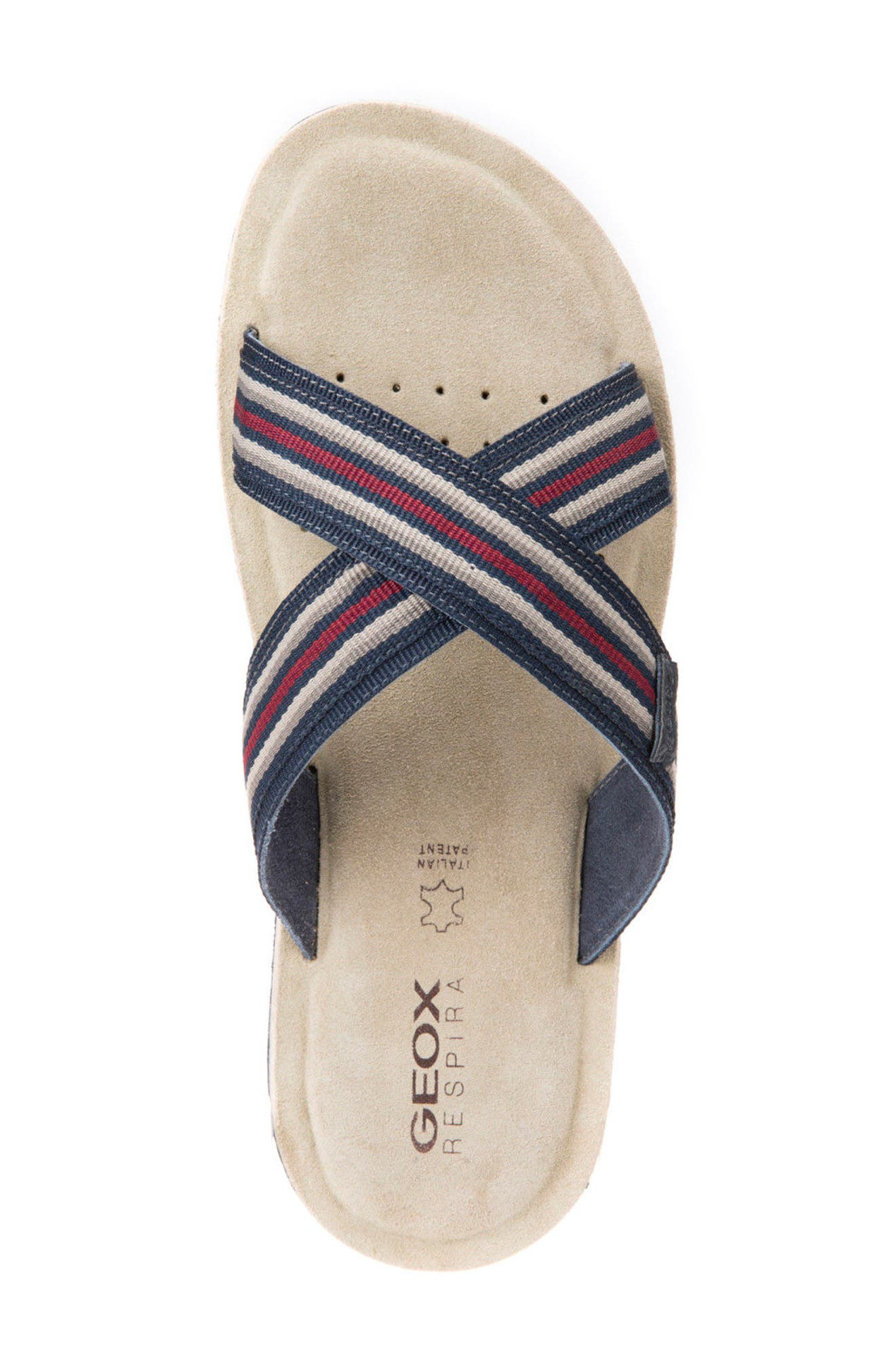 Artie 14 Cross Strap Slide Sandal,                             Alternate thumbnail 5, color,                             Navy