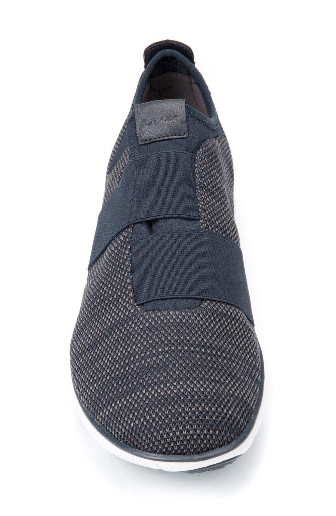 Nebula 45 Banded Slip-On Sneaker,                             Alternate thumbnail 4, color,                             Navy