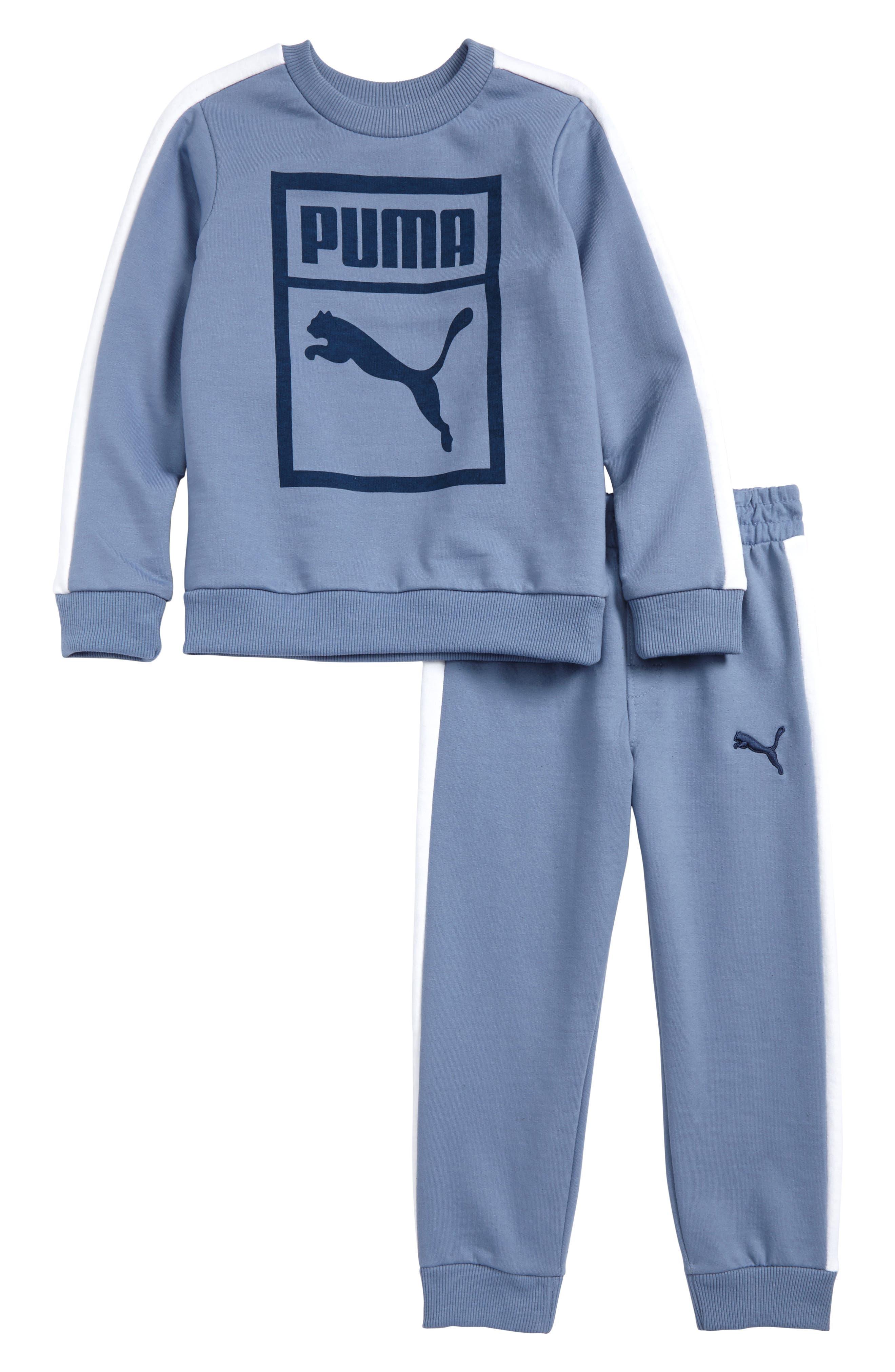 Main Image - PUMA Heritage Sweatshirt & Sweatpants Set (Toddler Boys & Little Boys)