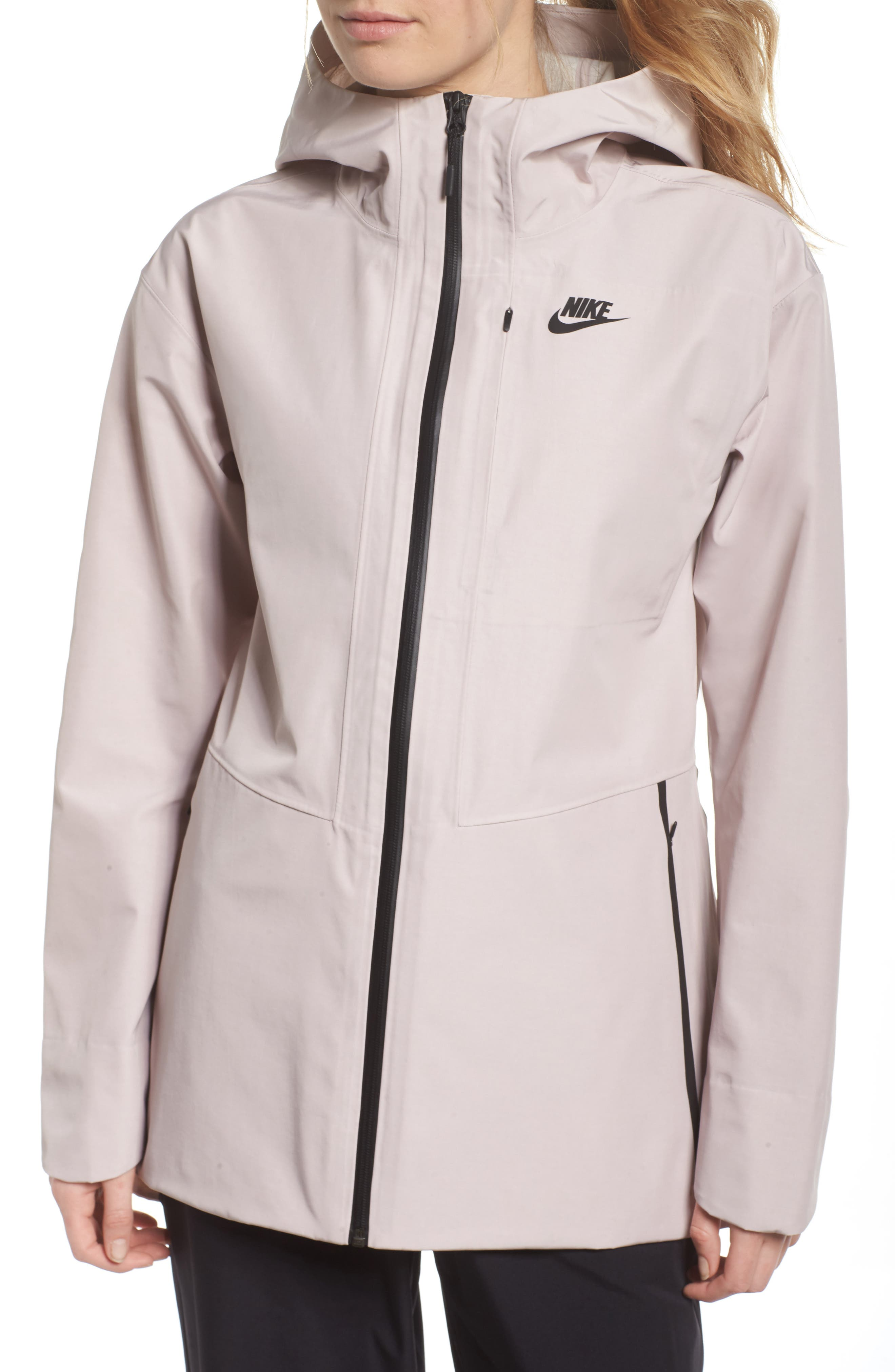 Sportswear Women's Tech Jacket,                             Alternate thumbnail 4, color,                             Particle Rose/ Black