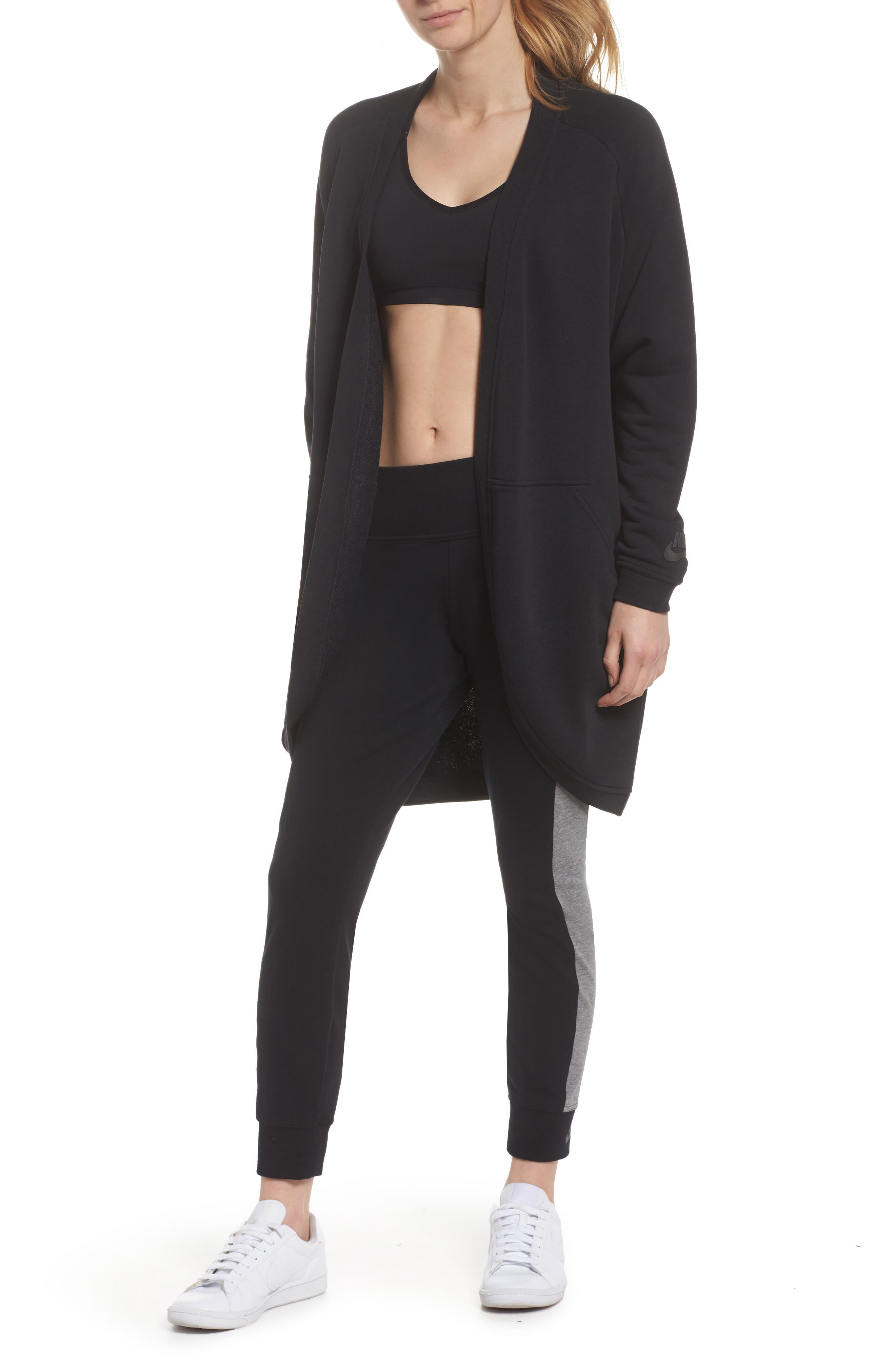 Sportswear Modern Cardigan,                         Main,                         color, Black