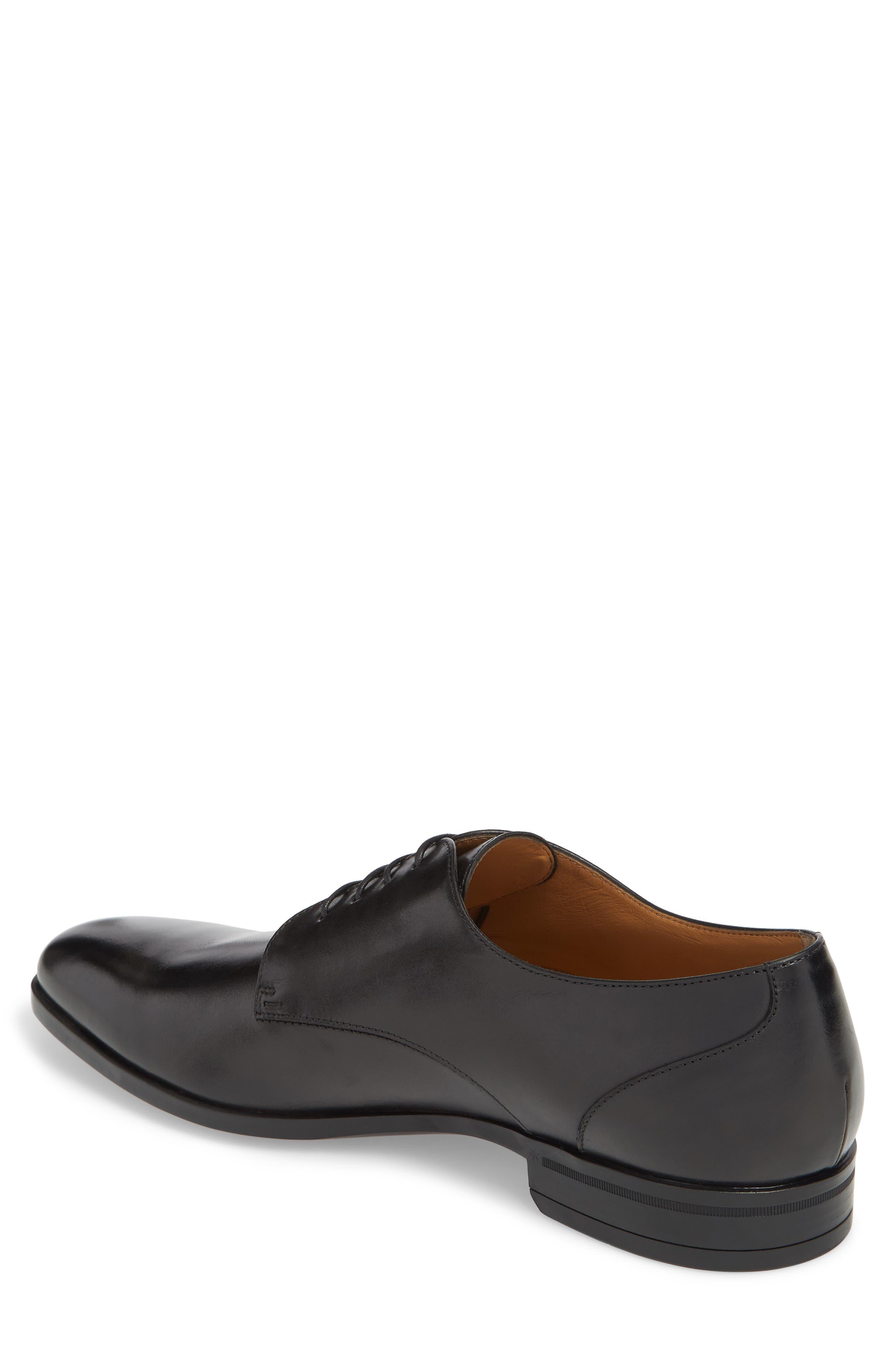 Portland Plain Toe Derby,                             Alternate thumbnail 2, color,                             Black Leather