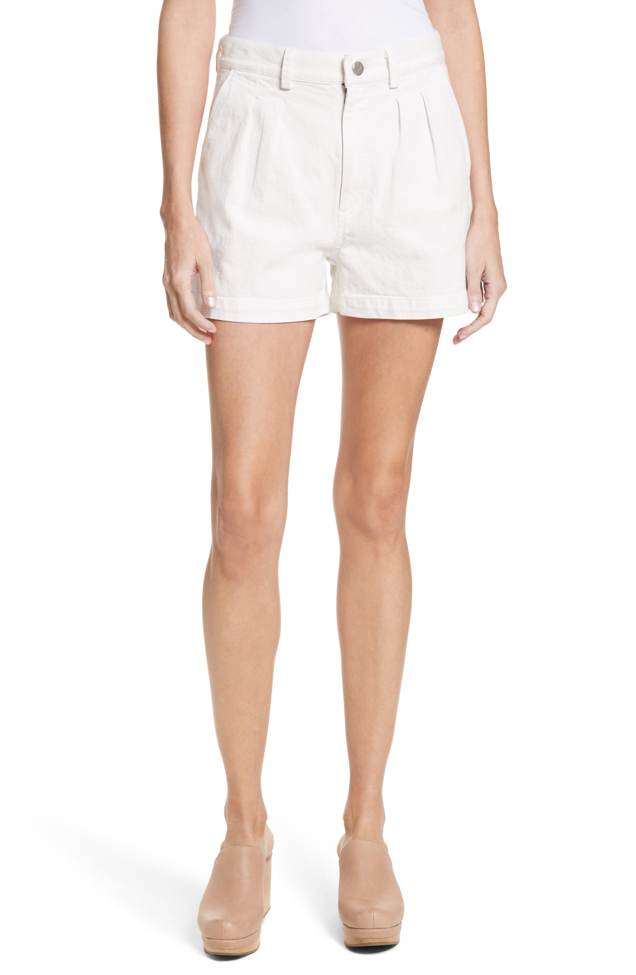 Daft Denim Shorts,                         Main,                         color, Dirty White