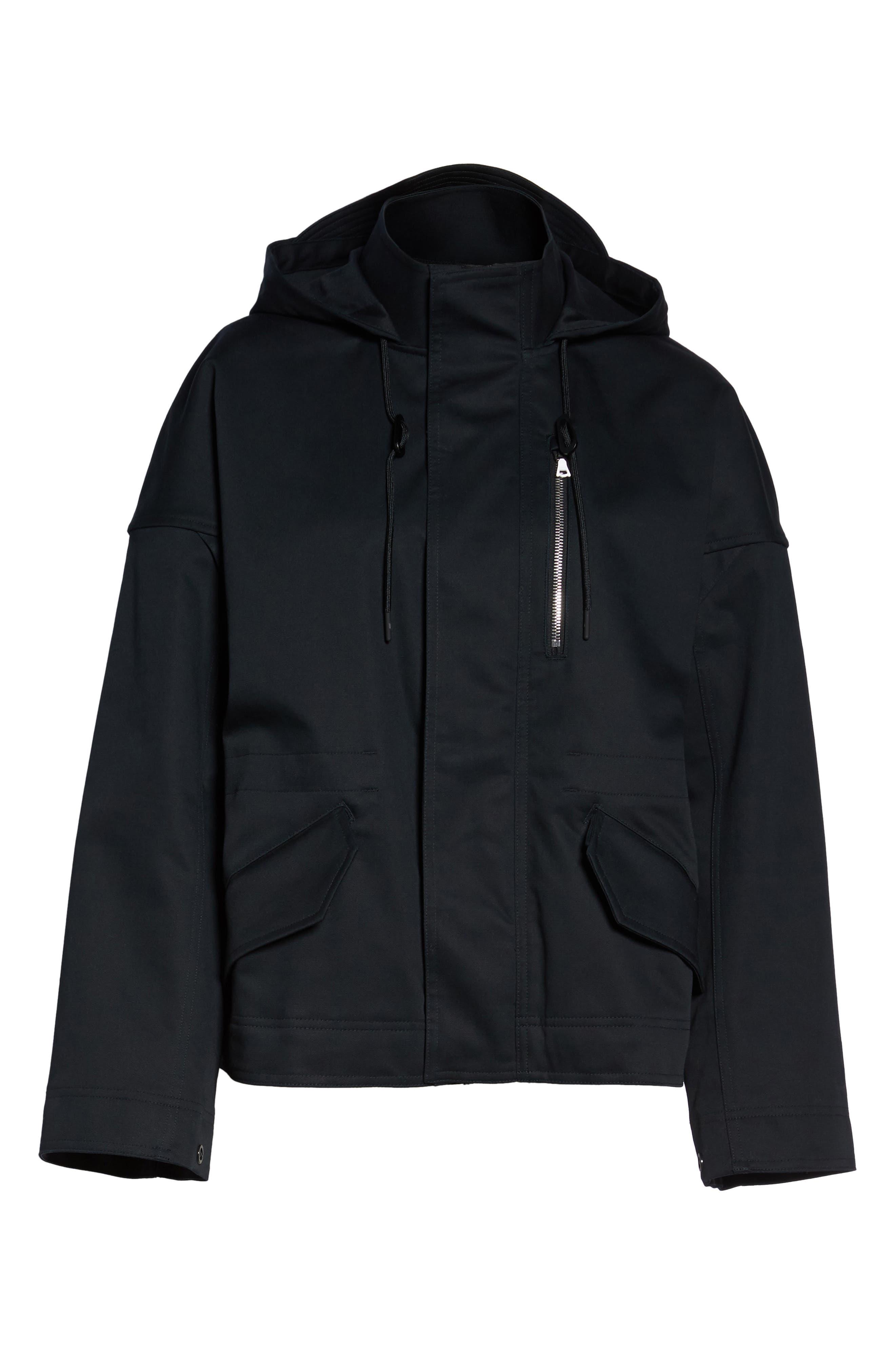 NikeLab Collection Women's Tactical Jacket,                             Alternate thumbnail 6, color,                             Black/ Black