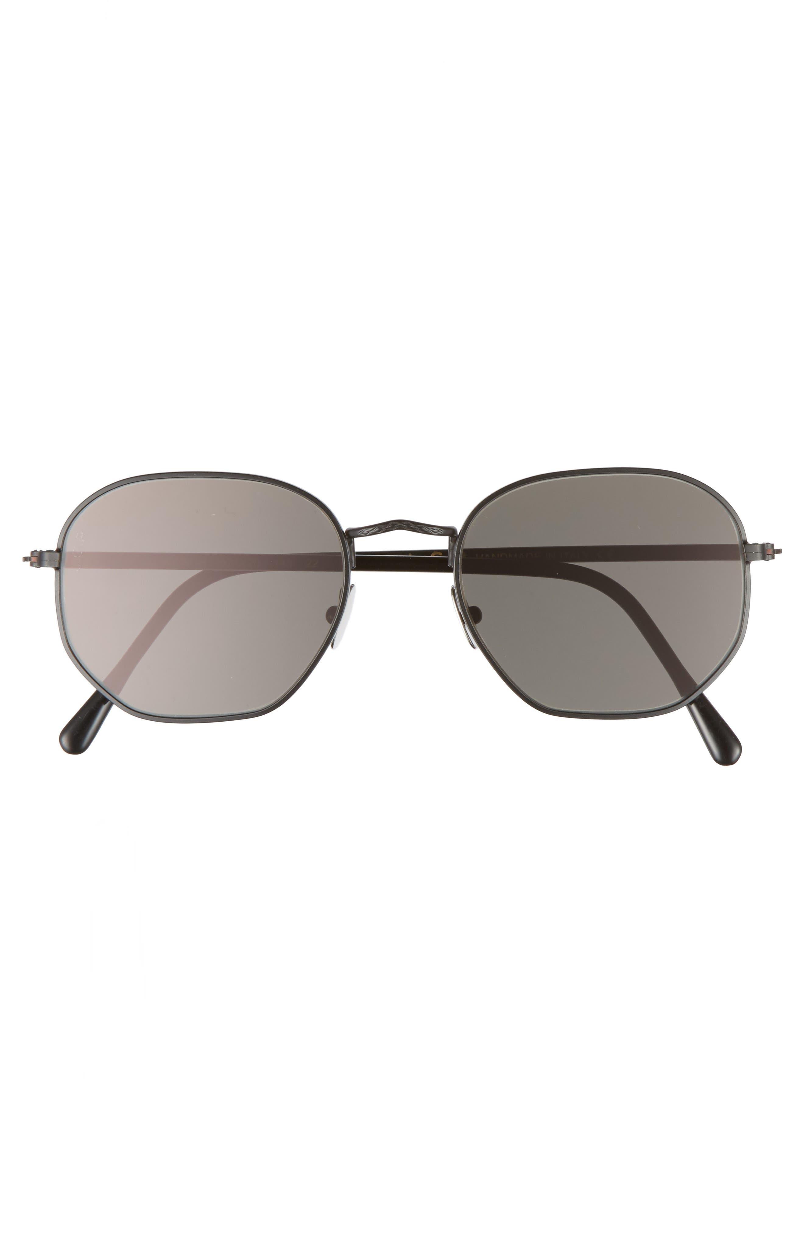 Wilson 52mm Sunglasses,                             Alternate thumbnail 2, color,                             Black Matte/ Grey