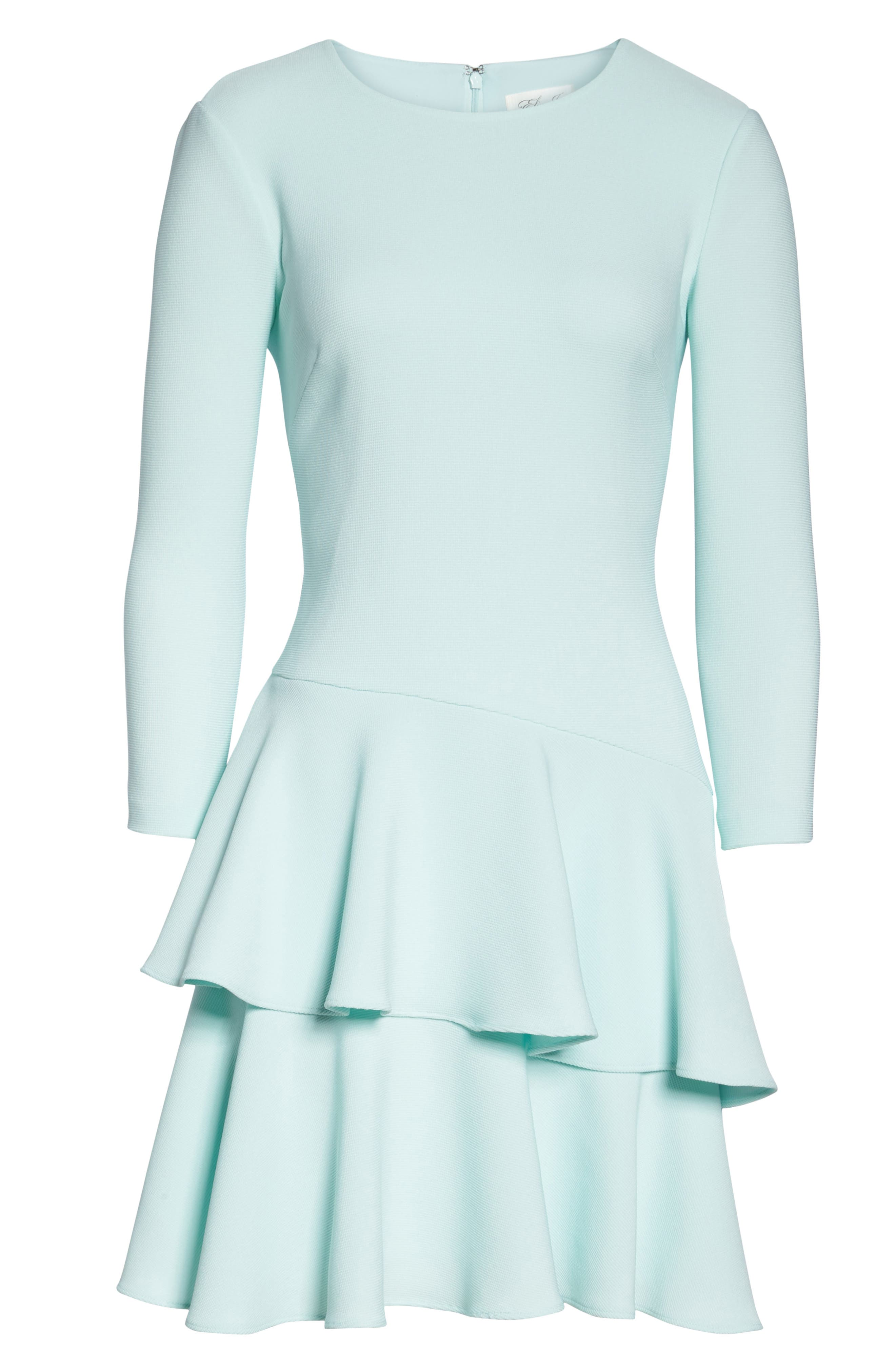 Tiered Ruffle Dress,                             Alternate thumbnail 6, color,                             Mint