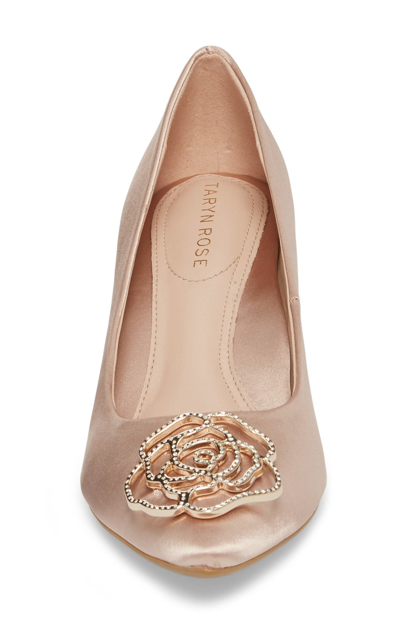 Maci Pump,                             Alternate thumbnail 4, color,                             Blush Satin Fabric