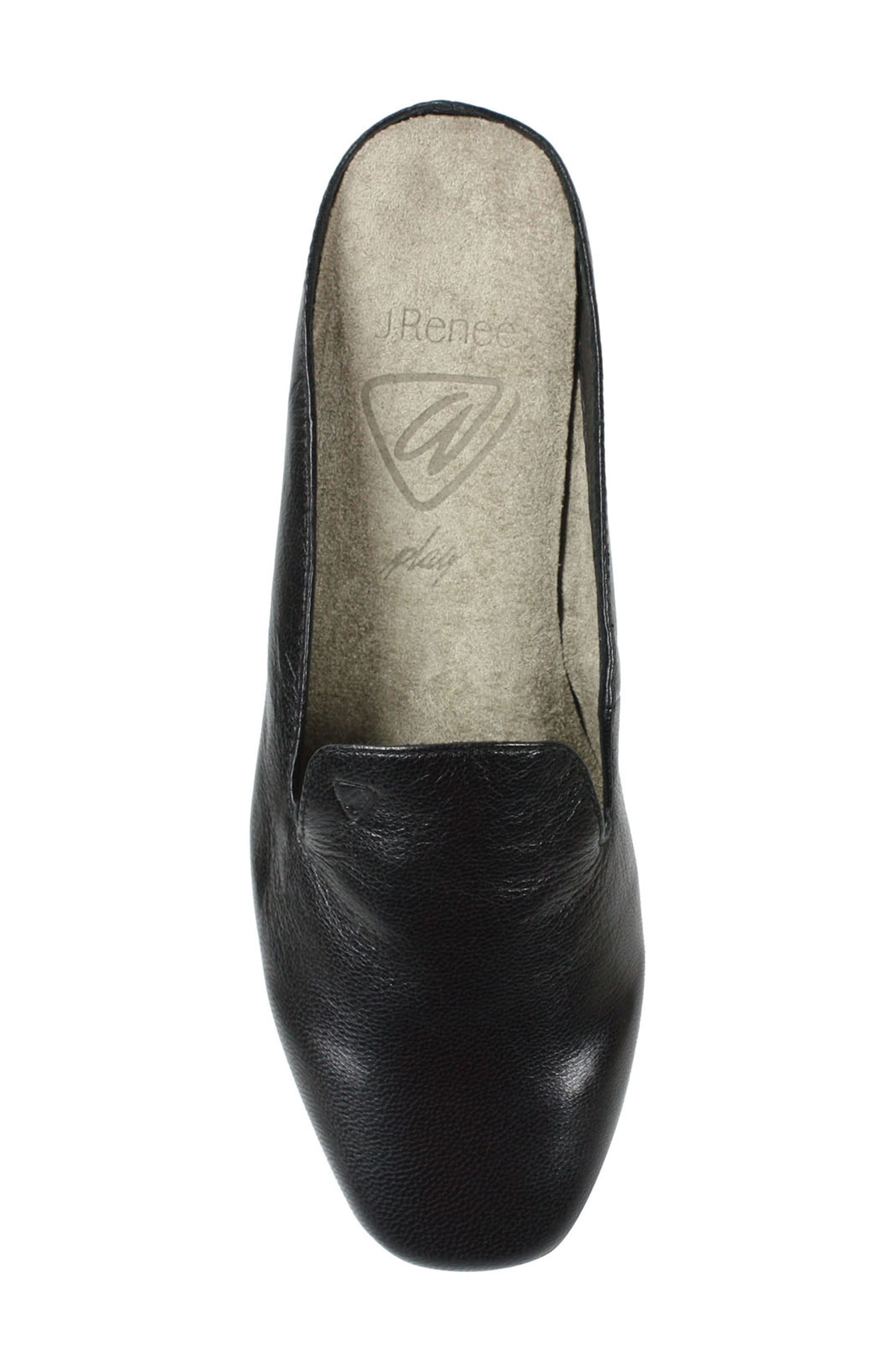 Chesir Mule,                             Alternate thumbnail 4, color,                             Black Leather
