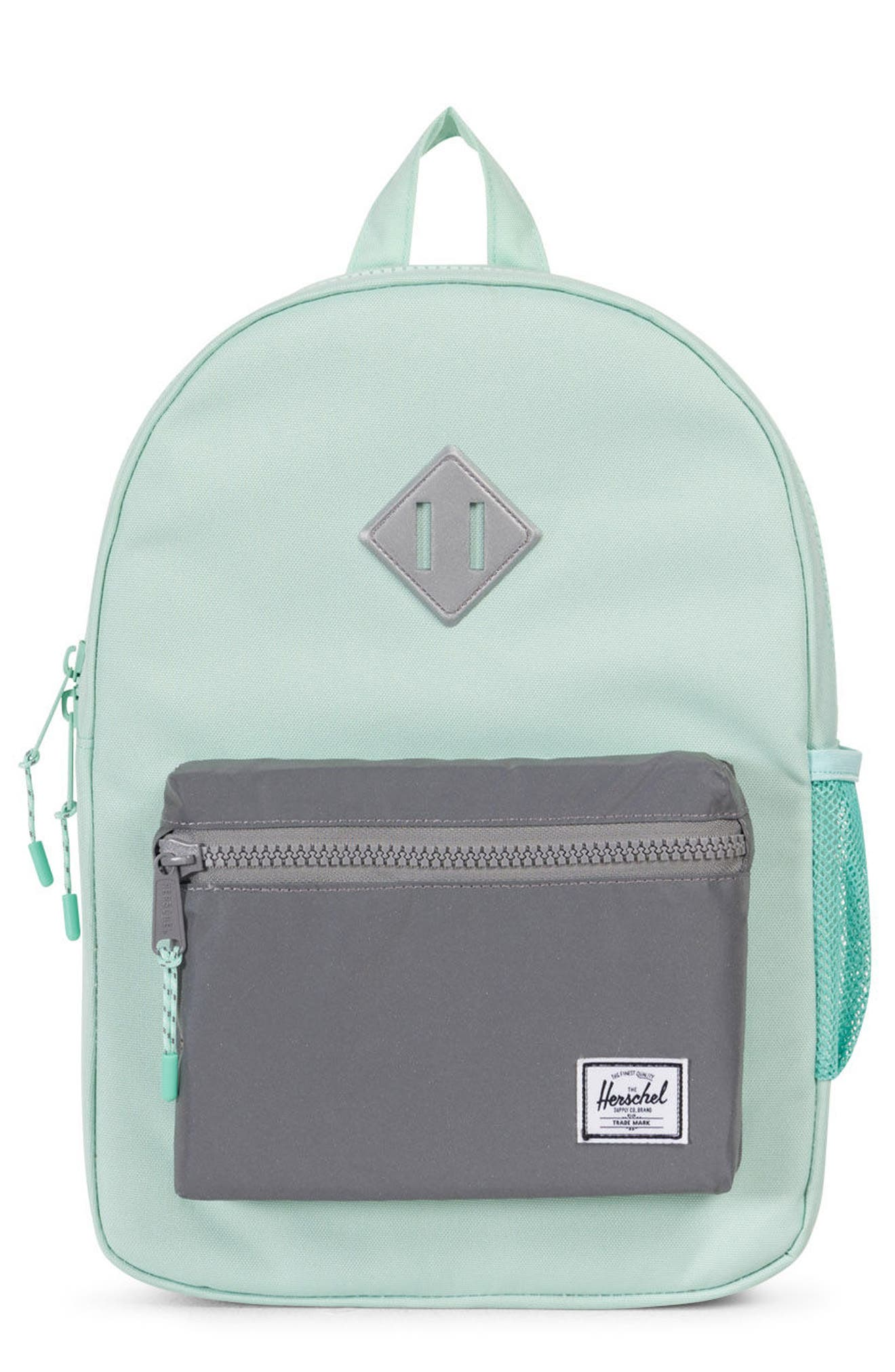 Heritage Backpack,                             Main thumbnail 1, color,                             Yucca/ Reflective Rubber