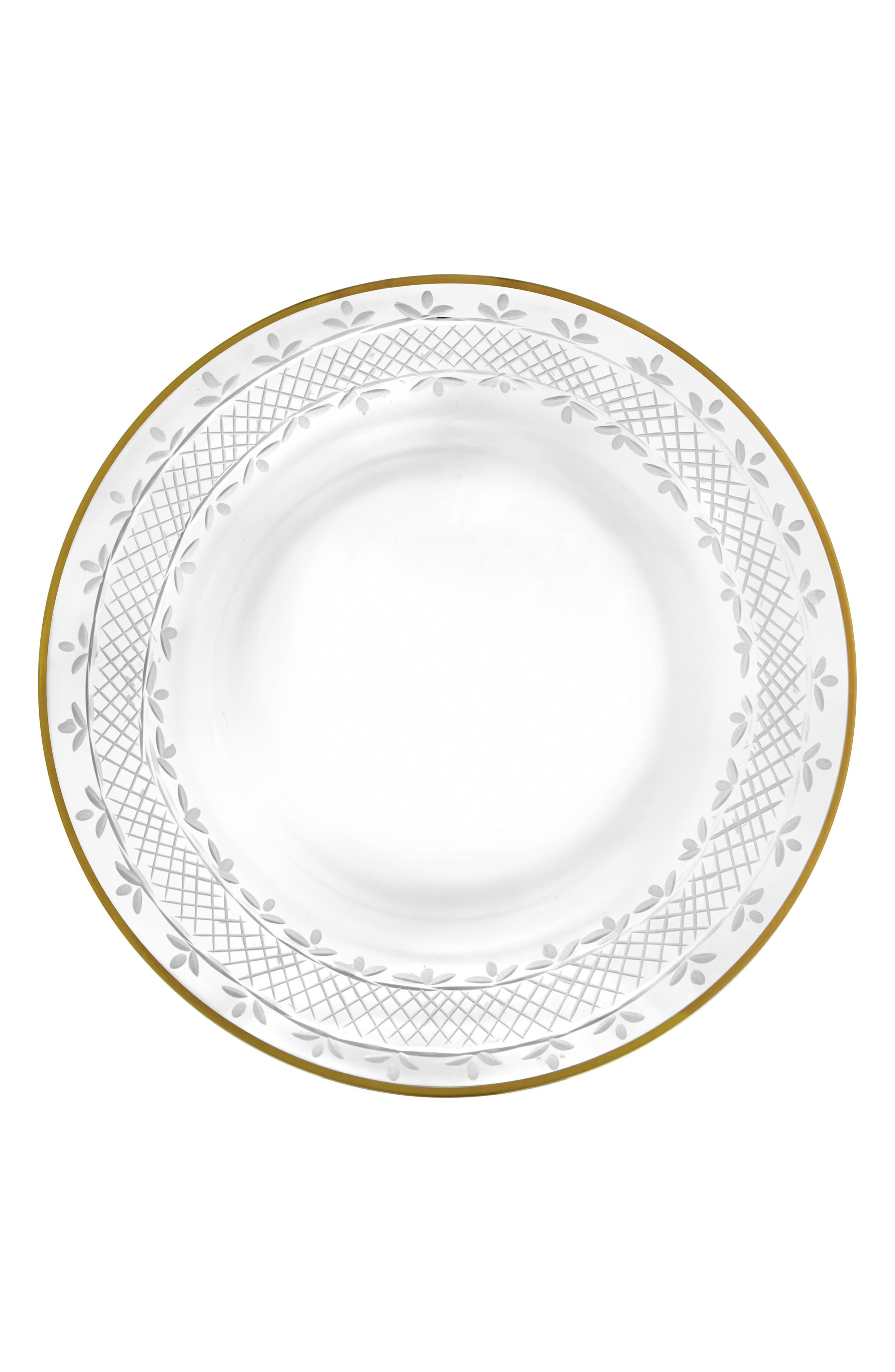 Semplice Charger Plate,                         Main,                         color, Gold